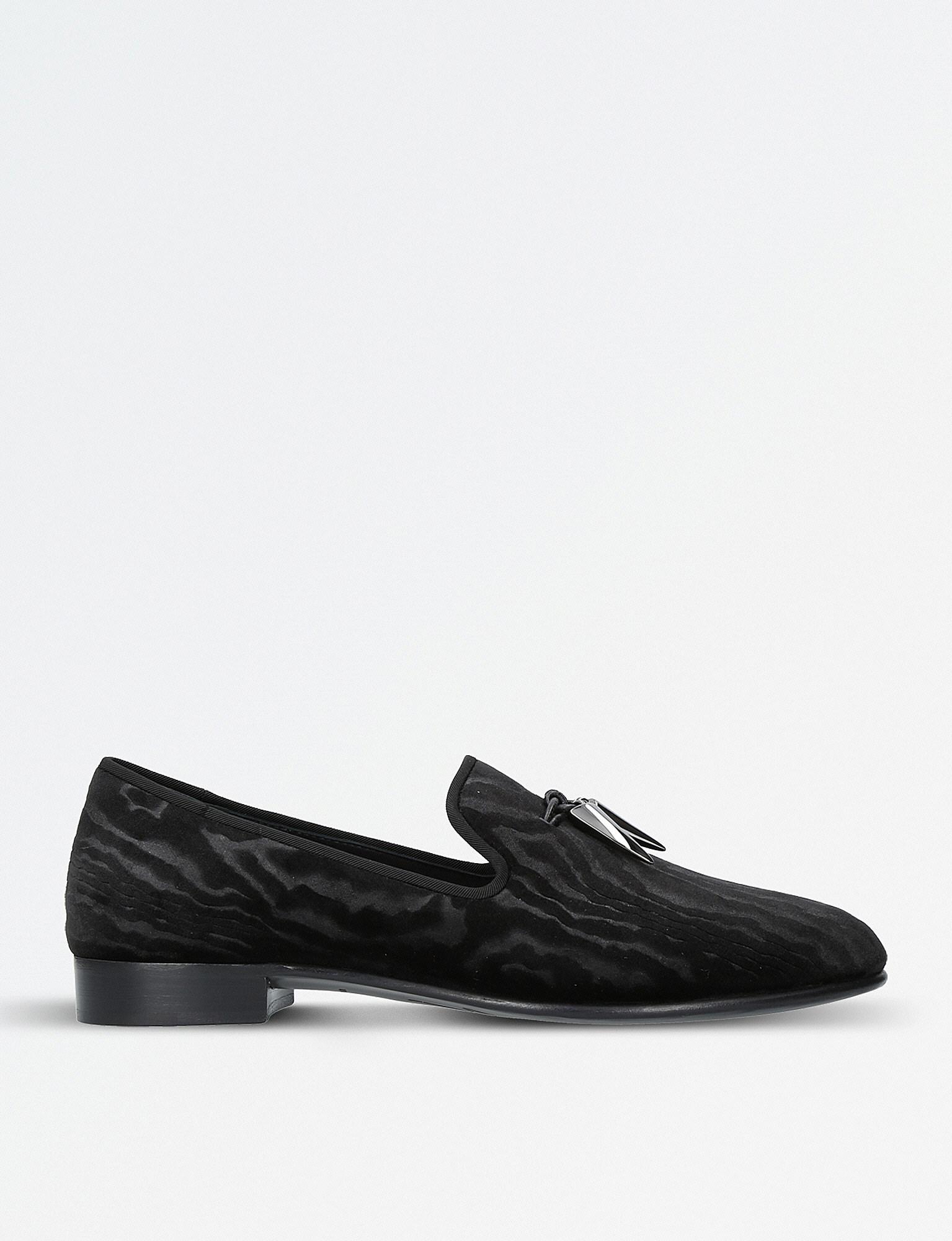 timeless design bc8a4 7eaed giuseppe-zanotti-Black-Sharktooth-Velvet-Slippers.jpeg