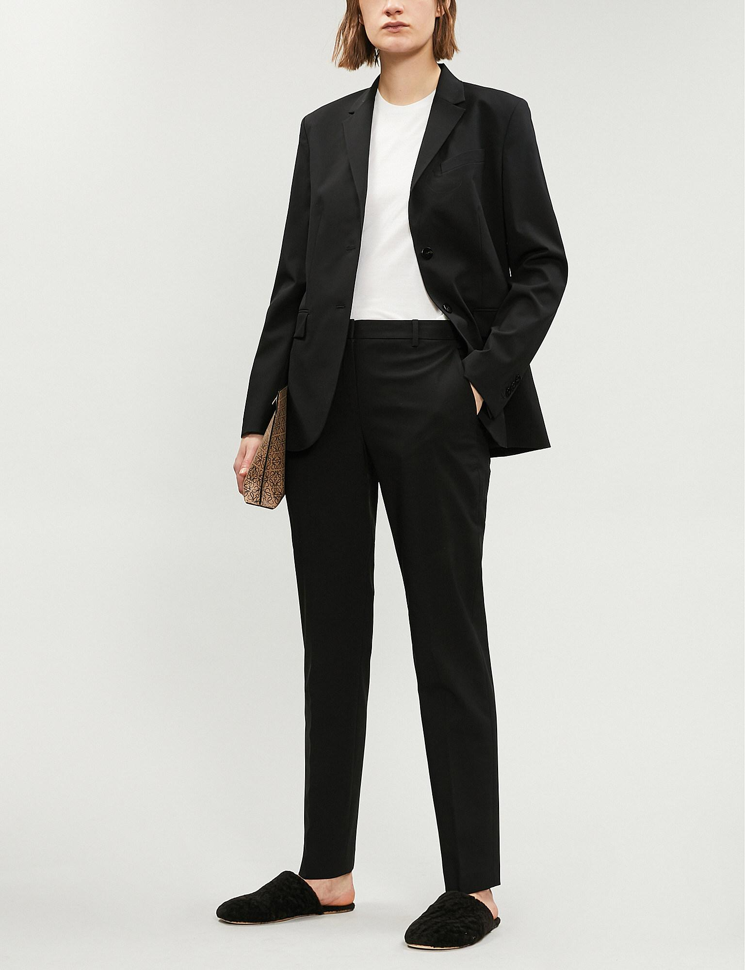 2c26a2d49533 Lyst - Theory Single-breasted Stretch-wool Blazer in Black