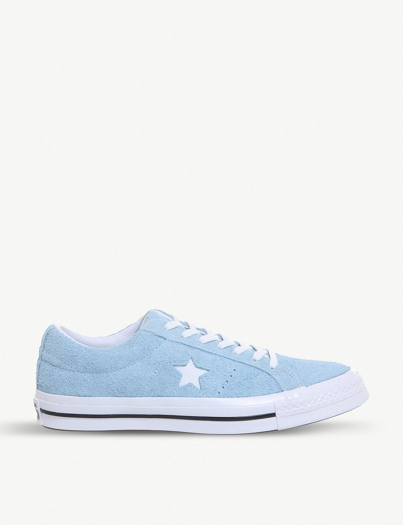 c145d8bd726 Lyst - Converse One Star Suede Trainers in Blue for Men