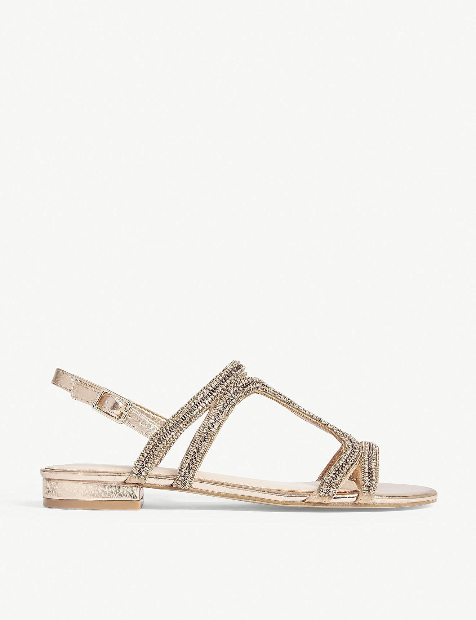 902250d49f15 Lyst - ALDO Asiliria Rhinestone Slingback Sandals in Metallic