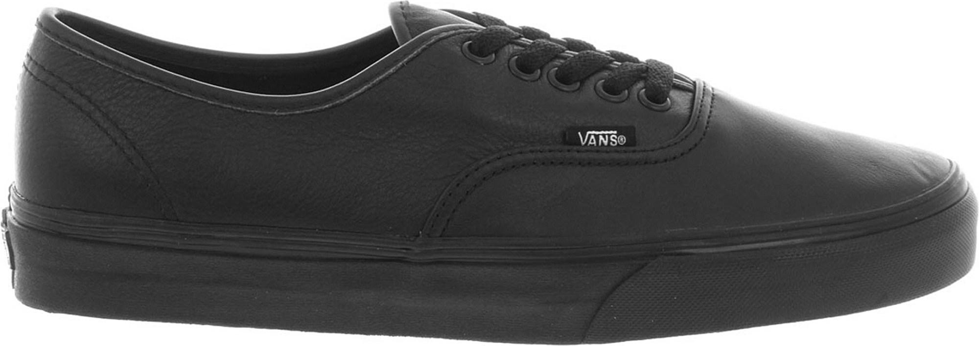 Lyst - Vans Authentic Leather Trainers in Black for Men 995e95dd29c0