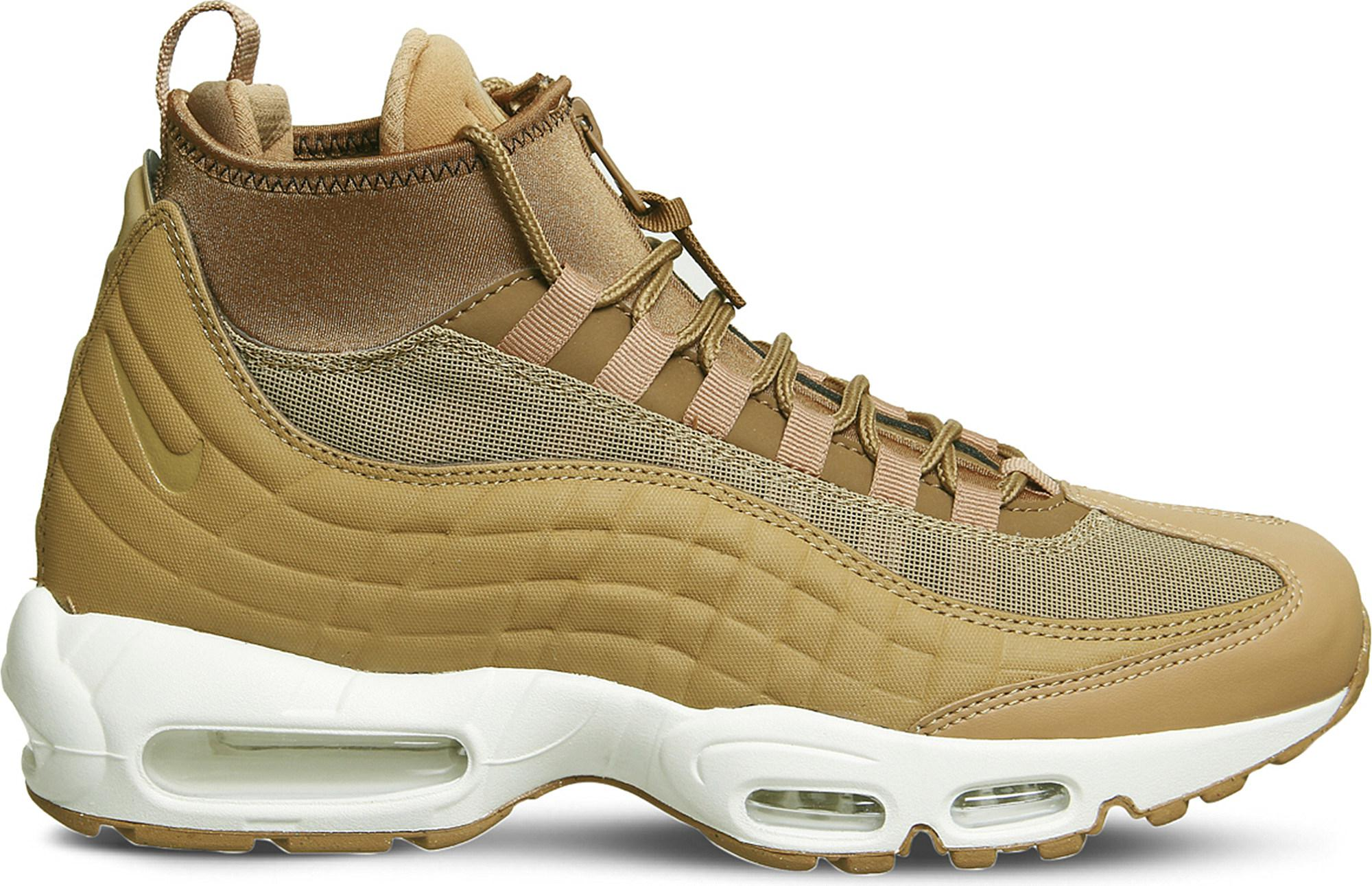 Nike. Men's Air Max 95 Sneakerboot Leather And Fabric High-top Trainers