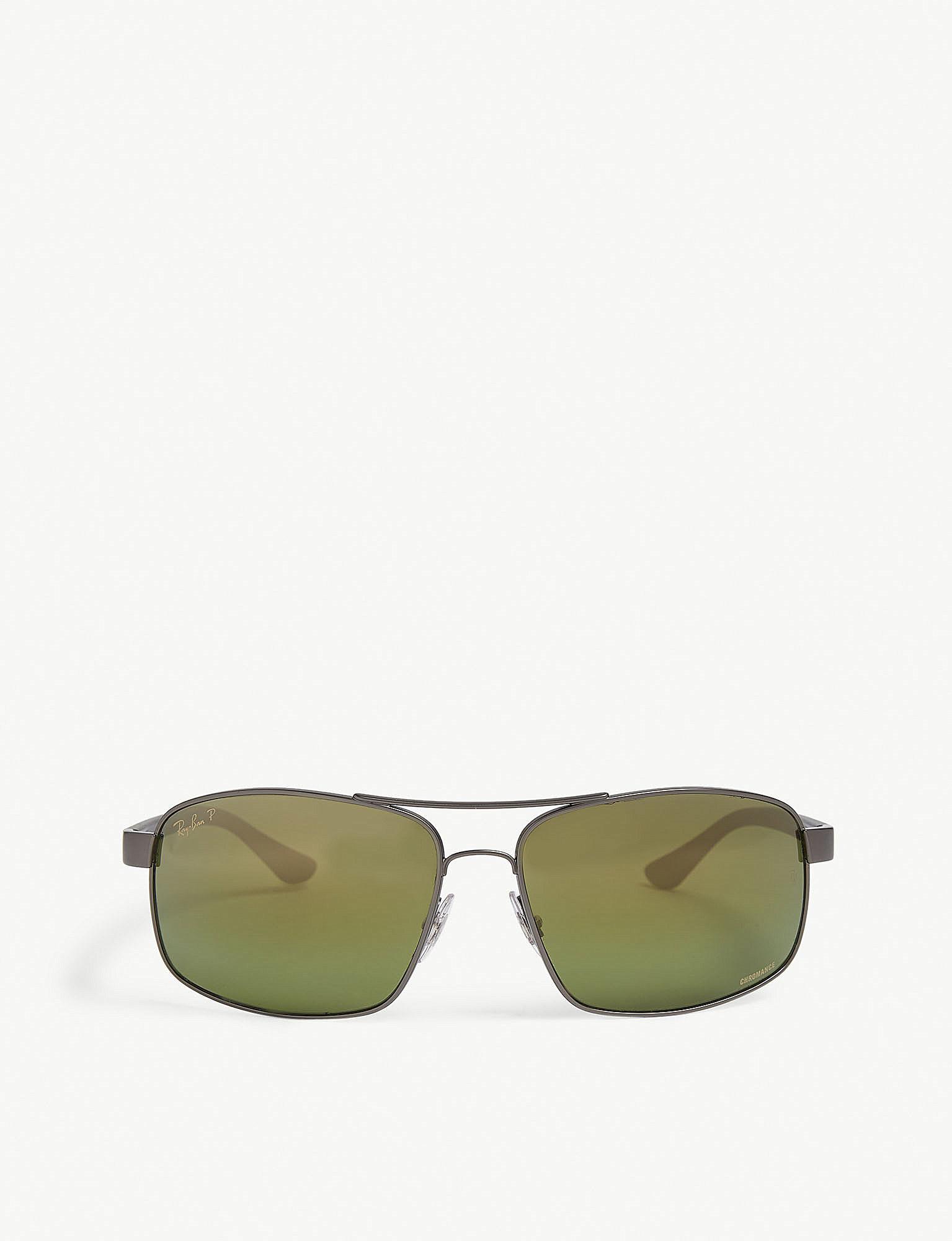 d5387f21f04a8b Rb3429m 58 Gold Square Sunglasses new arrive d4ca3 5c03b  Ray-Ban. Mens  Green Rb3604 Chromance Rectangle-frame Sunglasses timeless design 78f61  1bc2e ...