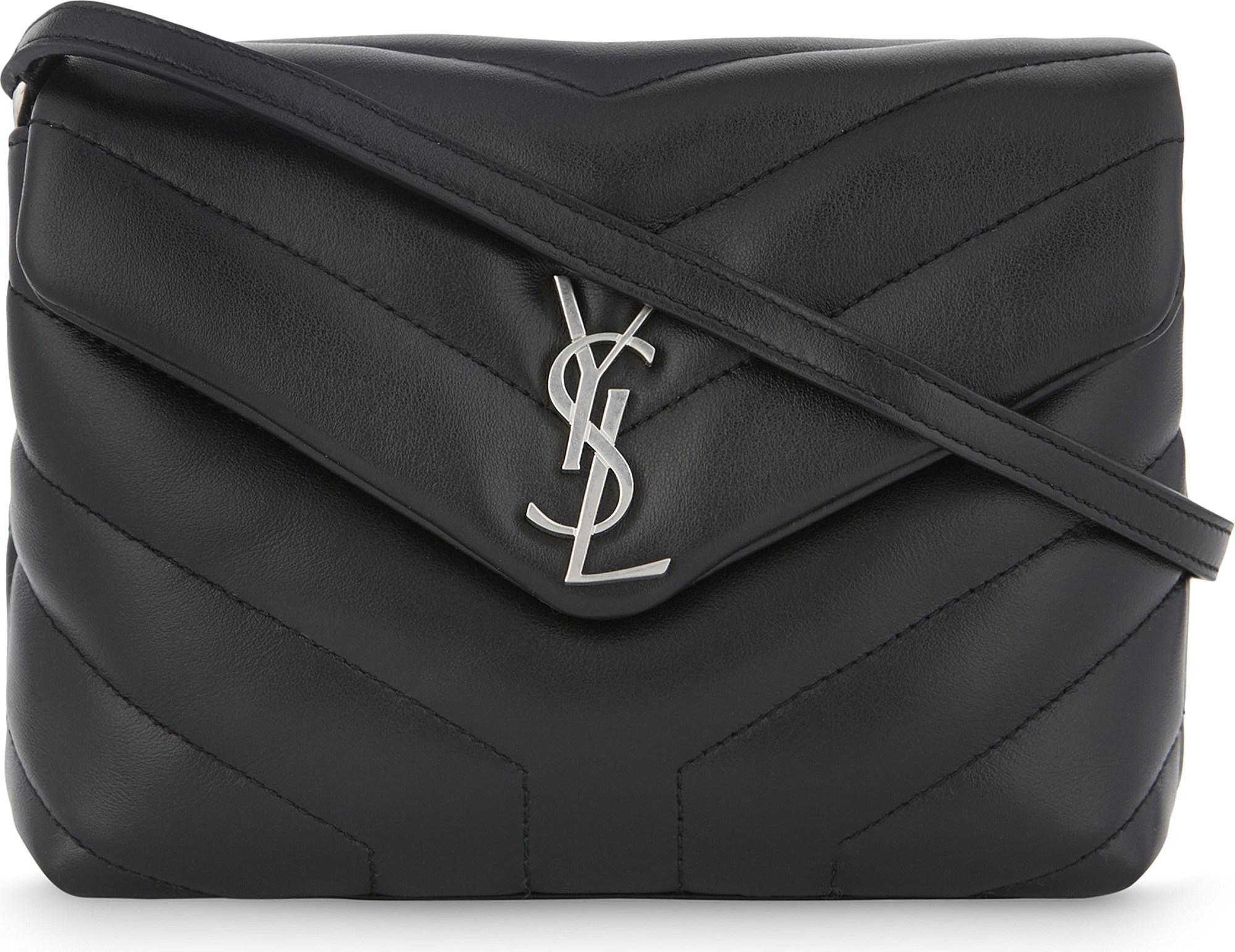 c66cc2469909 Saint Laurent. Women s Black Monogram Lou Lou Quilted Leather Cross-body Bag