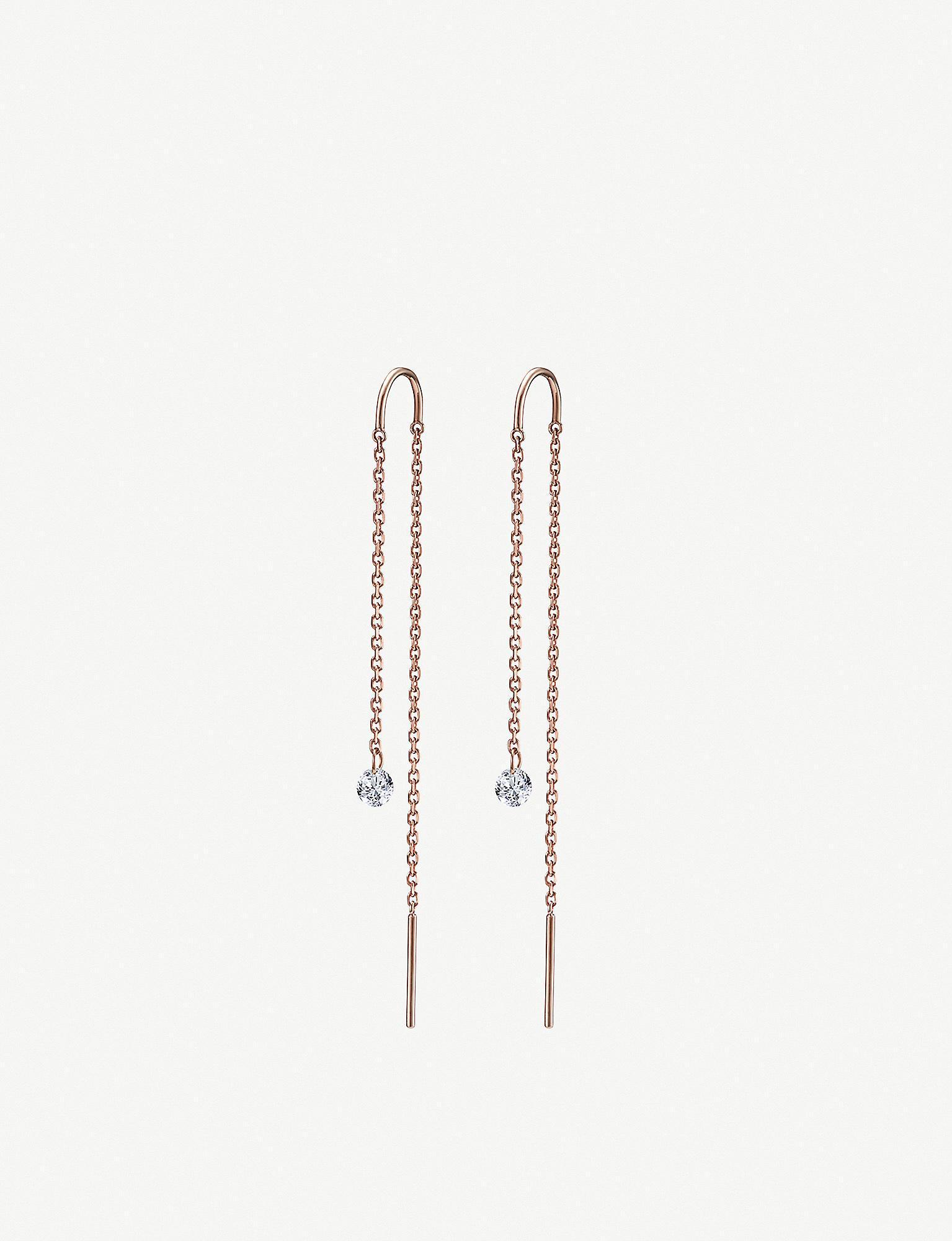 20775baf5 2. The Alkemistry - Metallic Drilled Diamonds 18ct Rose-gold And Diamond  Earrings - Lyst