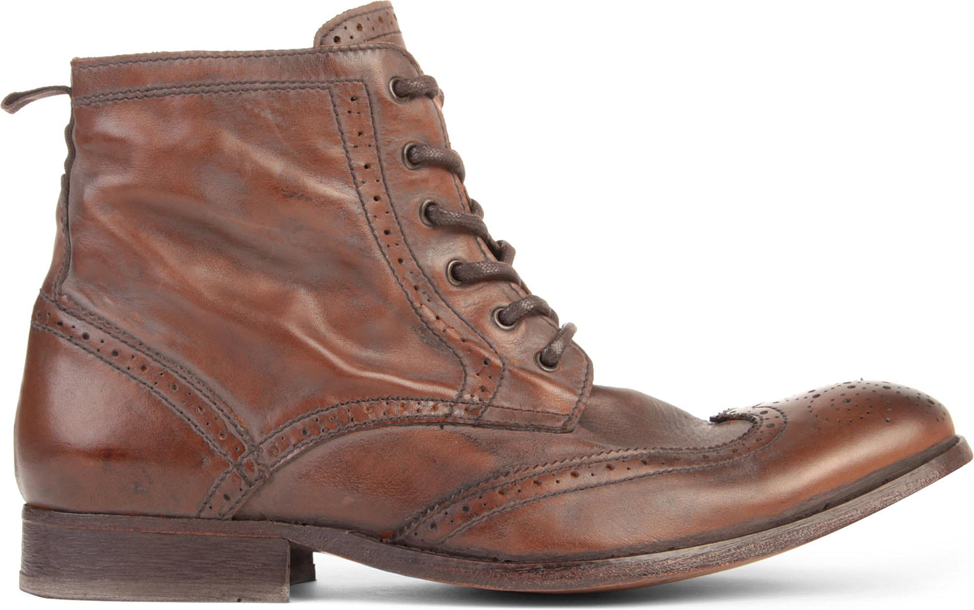 50c110b47b06 H by Hudson Angus Boots in Brown for Men - Lyst