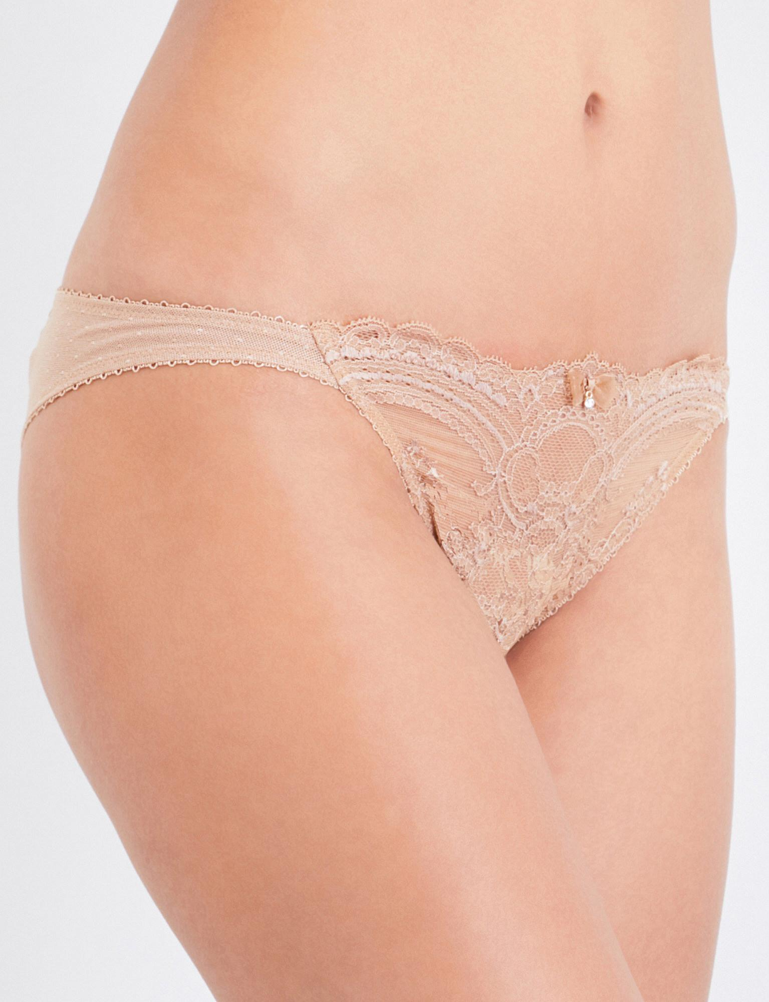 f9c8b2c2c5 Lyst - Wacoal Chrystalle Lace Tanga Briefs in Natural