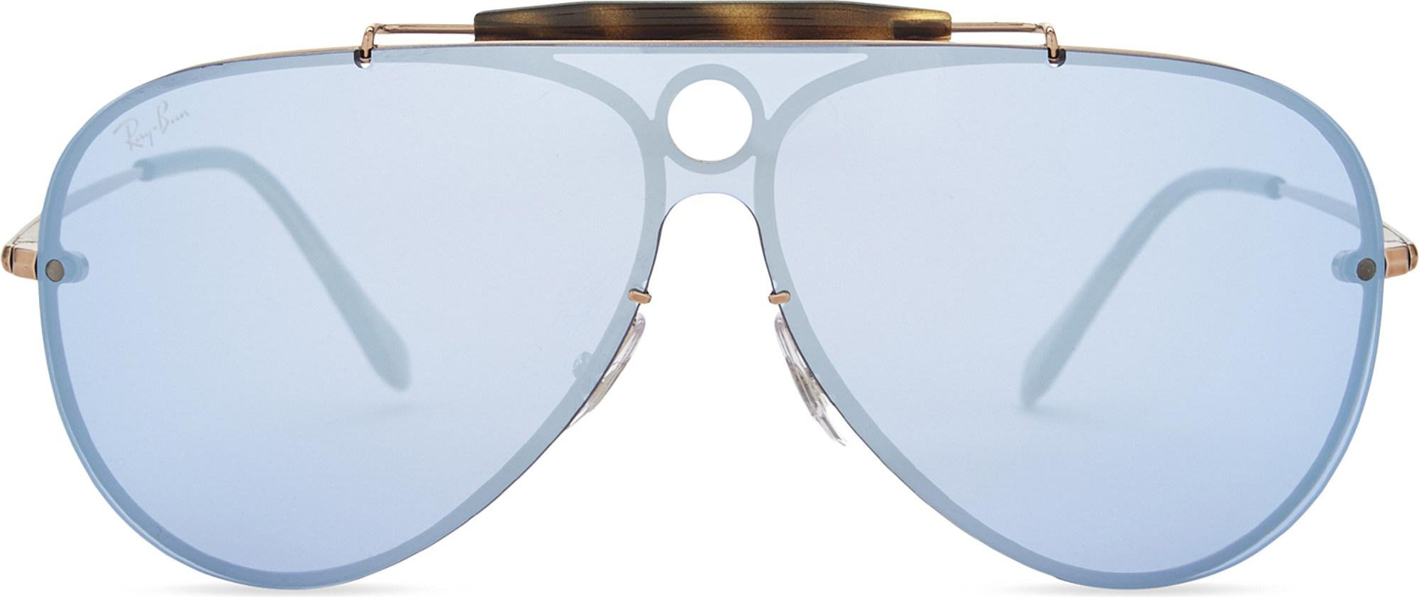 573a2c2440f52 Ray-Ban Rb3581 Blaze Shooter Pilot Sunglasses in Blue for Men - Lyst