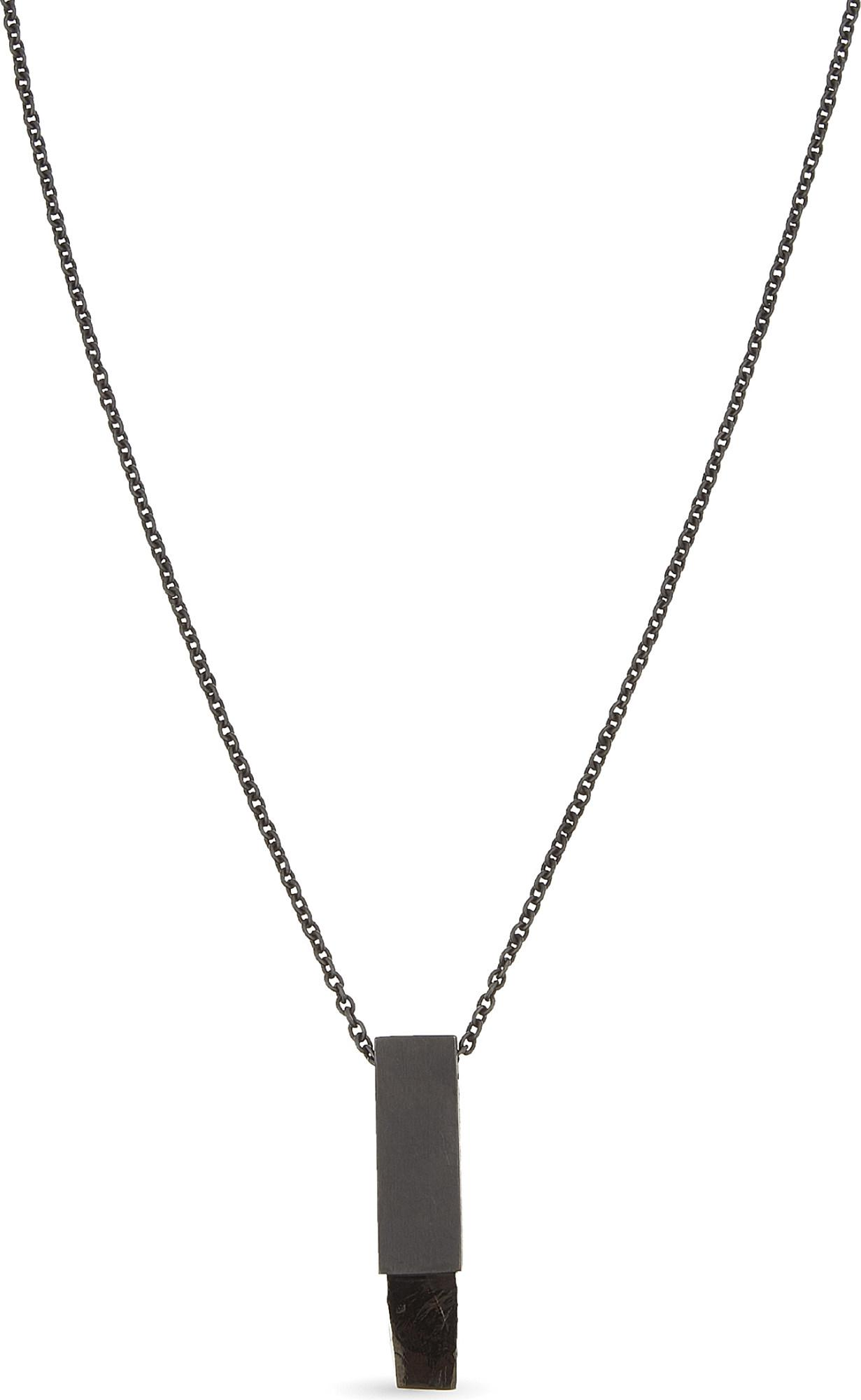 Lyst - Parts of 4 Amulet Cuboid Shungite Necklace in Metallic