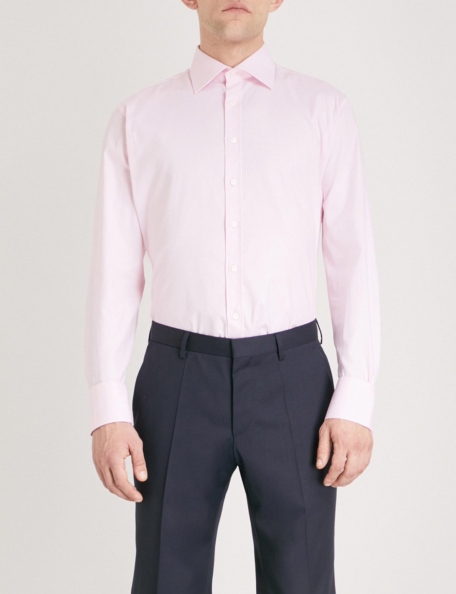 Lyst Thomas Pink Rydale Athletic Fit Cotton Oxford Shirt In Pink