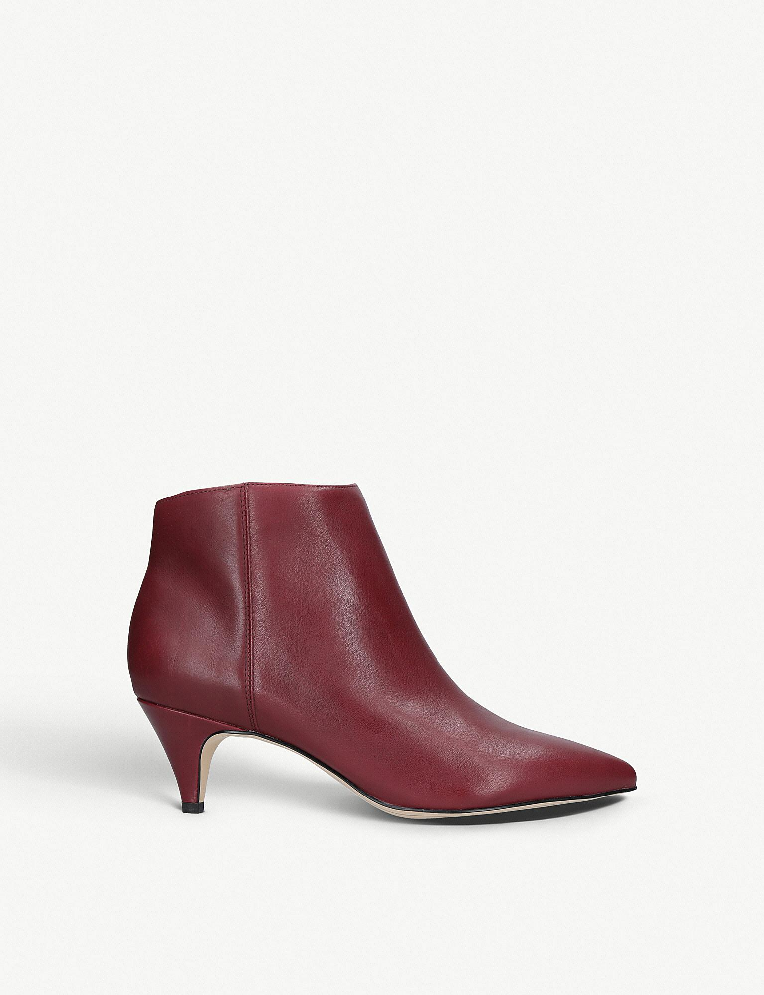 ae6568388818aa Sam Edelman Kinzey Leather Ankle Boots in Red - Lyst