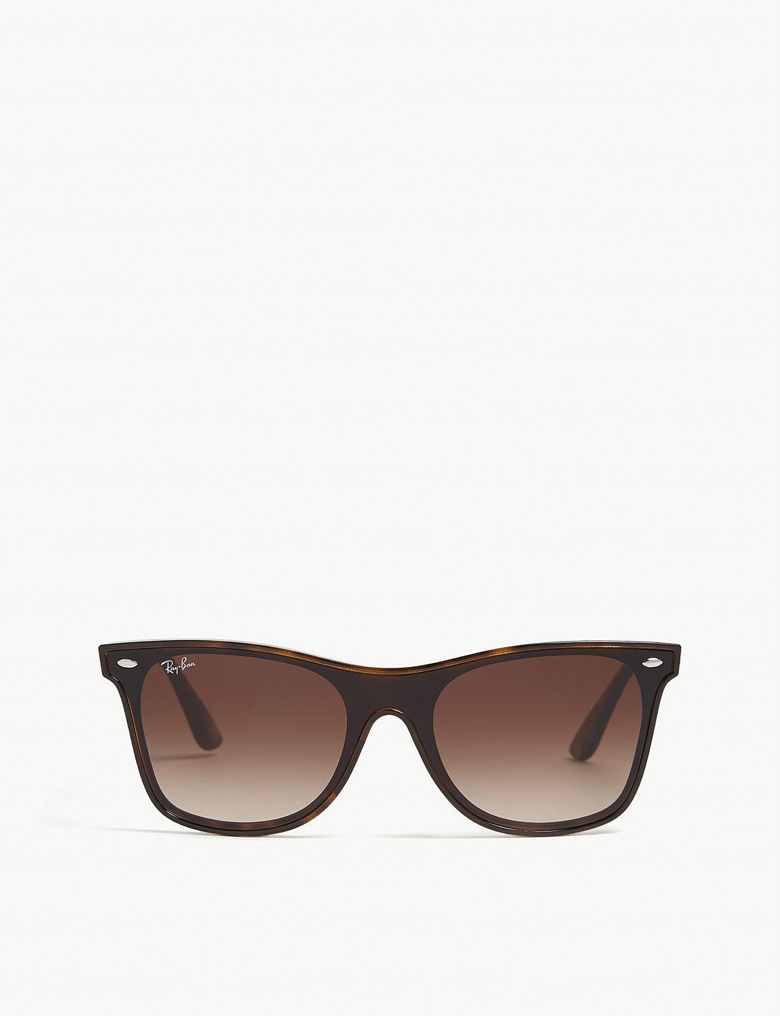 4615ebd3fd9 Lyst - Ray-Ban Rb4440 Square-frame Sunglasses in Brown for Men
