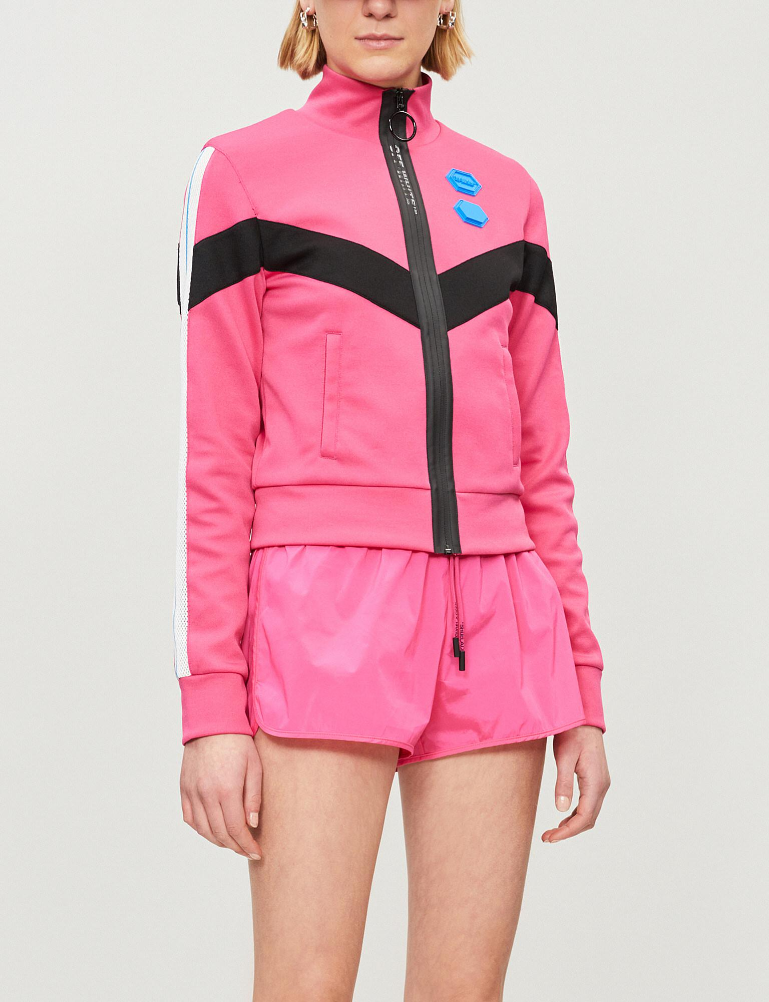 6ea77369b1d0 Lyst - Off-White C O Virgil Abloh Logo-patch Shell Shorts in Pink