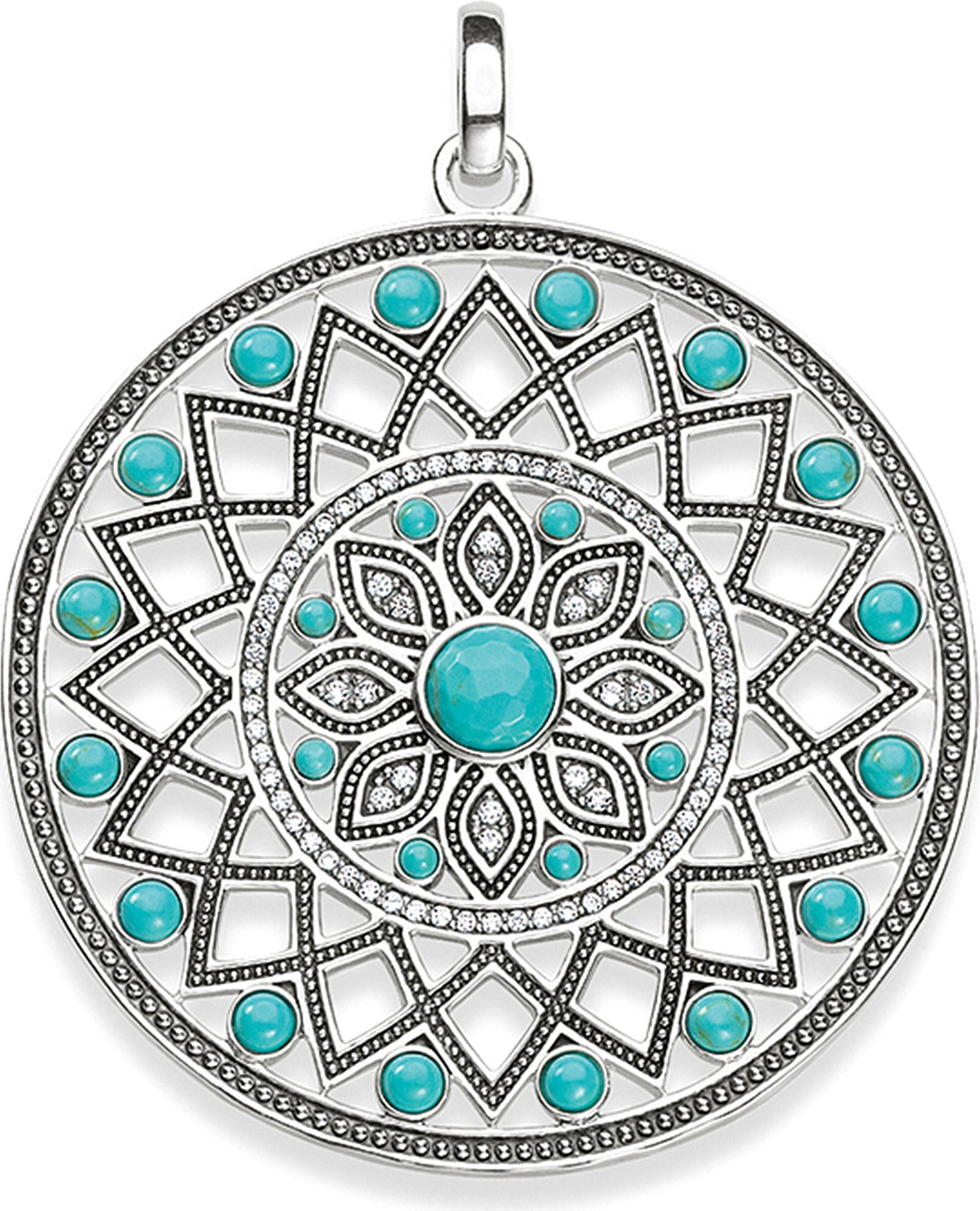 f015a09d1 Thomas Sabo Dreamcatcher Sterling Silver Pendant in Metallic - Lyst
