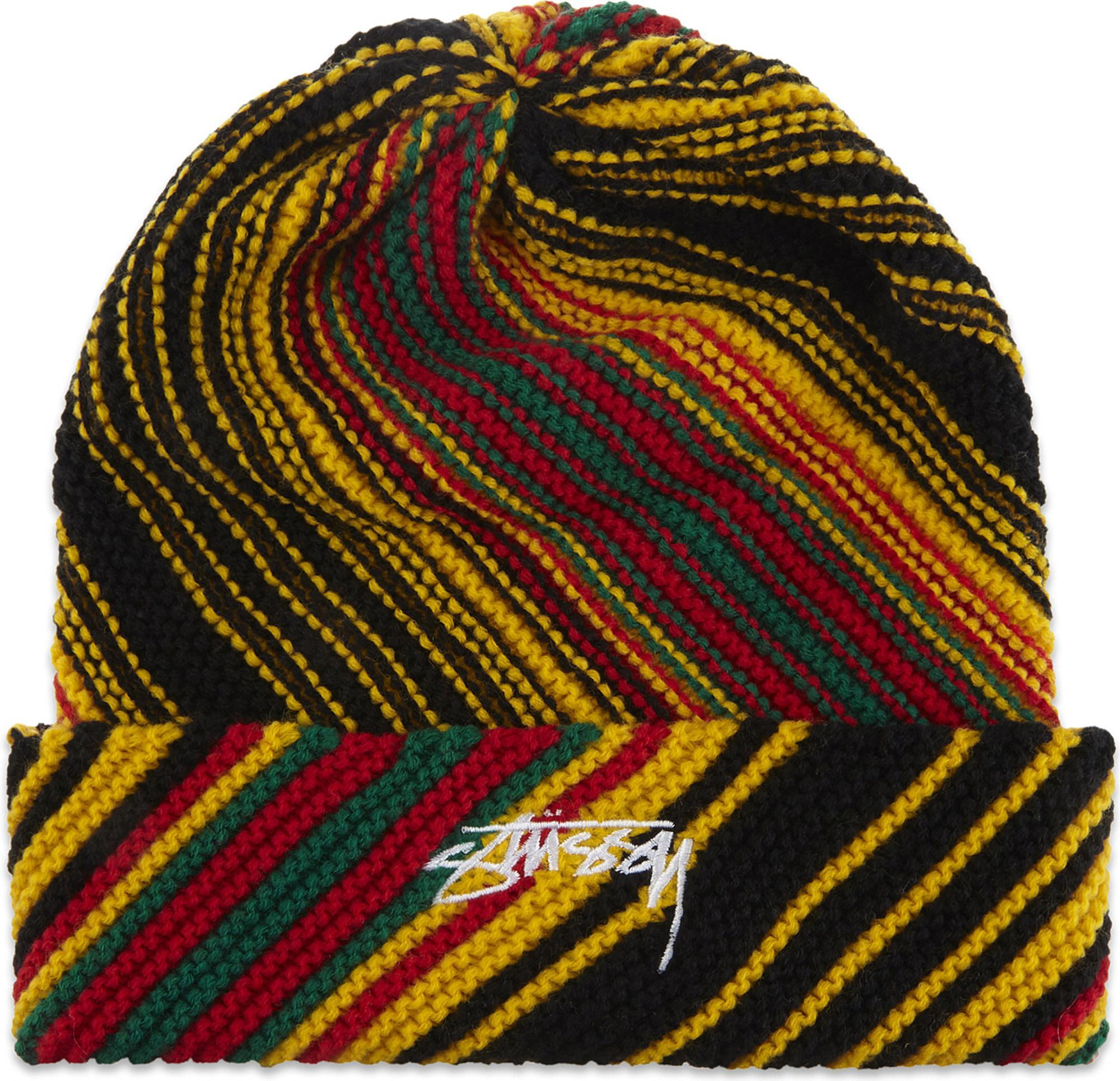 9b0de33e5b4 Lyst - Stussy Tribe Striped Cuff Beanie Hat for Men