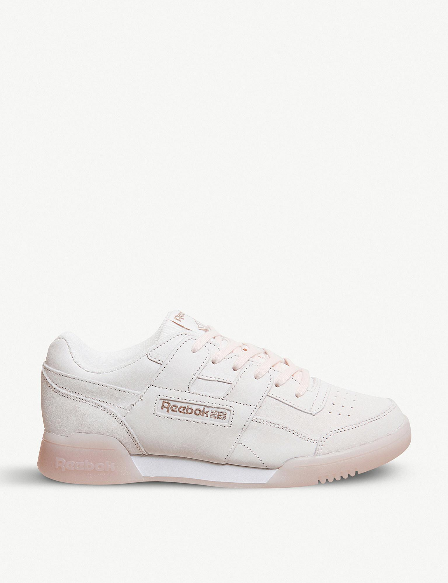 Reebok Workout Plus Nubuck-leather Trainers - Lyst 02033325f