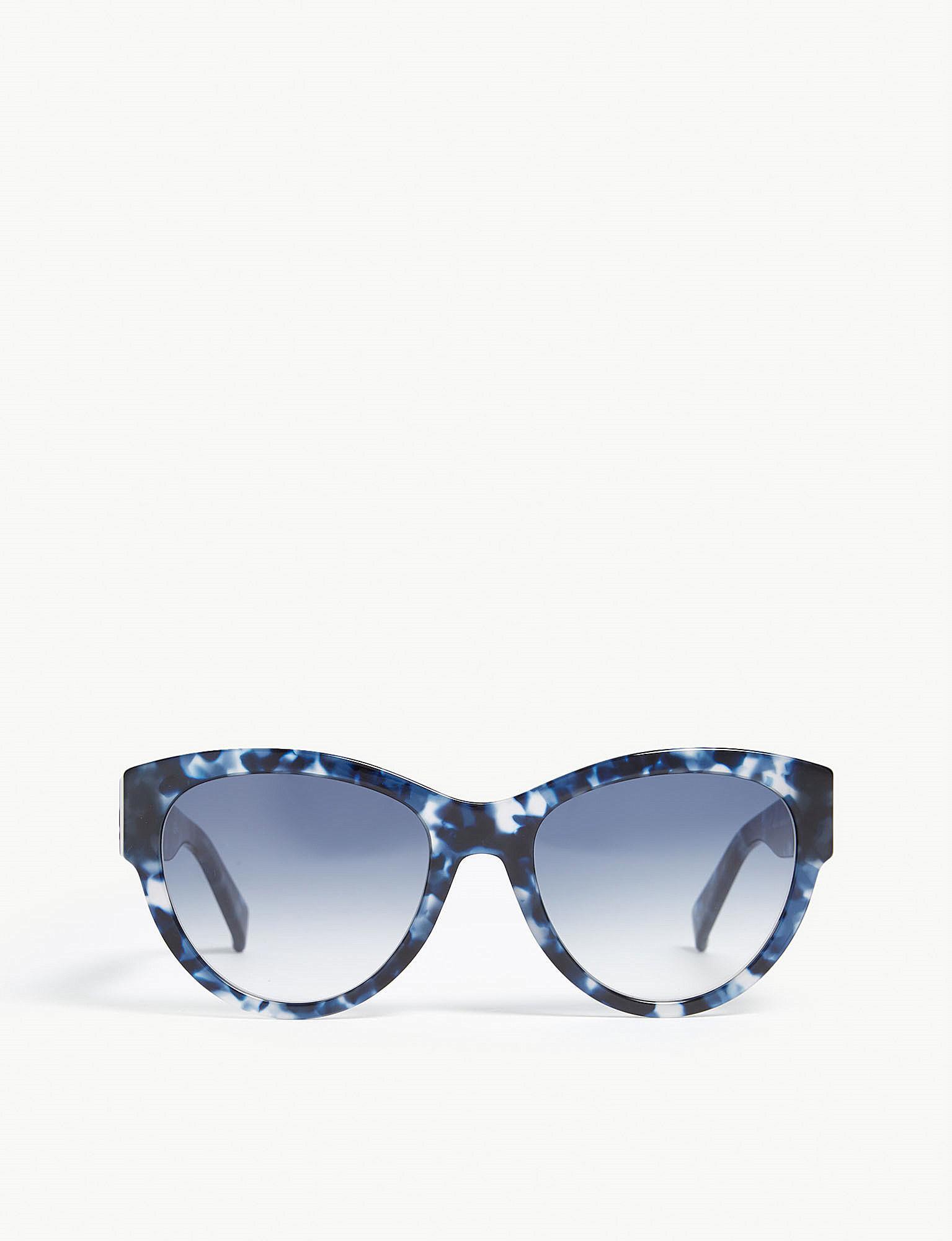 fa98305b74c0 Max Mara Flat3 Cat Eye-frame Sunglasses in Blue - Lyst