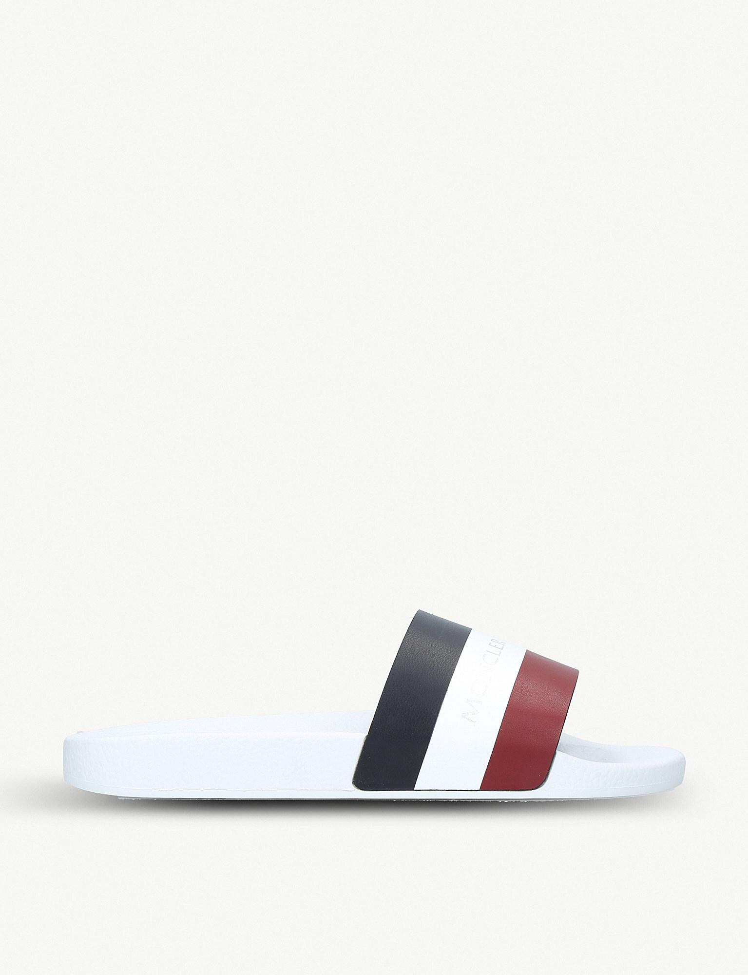 white moncler sliders