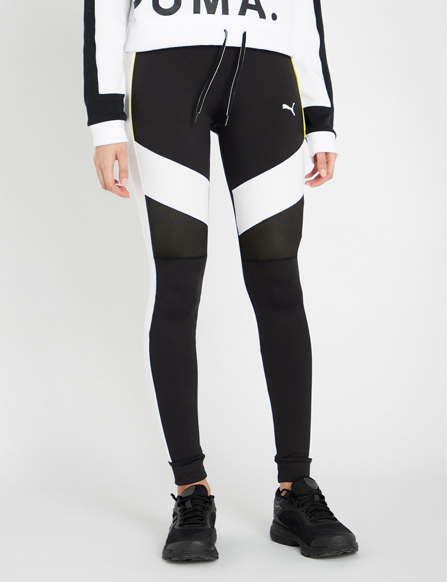 339b5aae395fc PUMA Chase Stretch-jersey legging in Black - Lyst