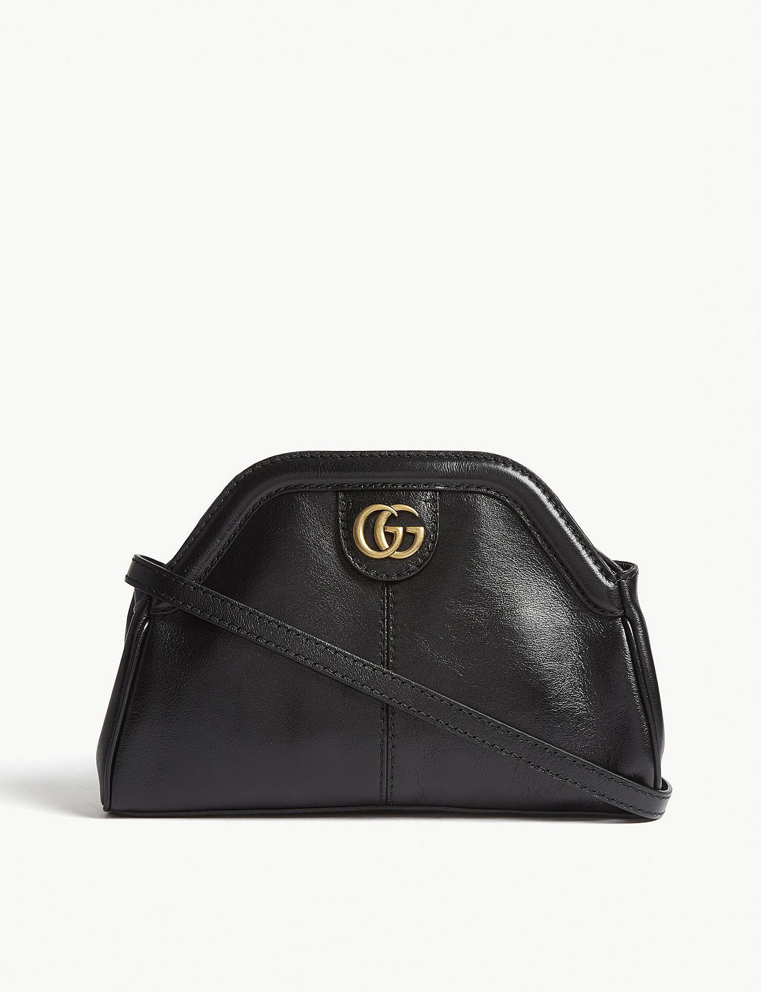 Lyst - Gucci Ladies Black Linea Leather Shoulder Bag in Black ca42e3f7b9