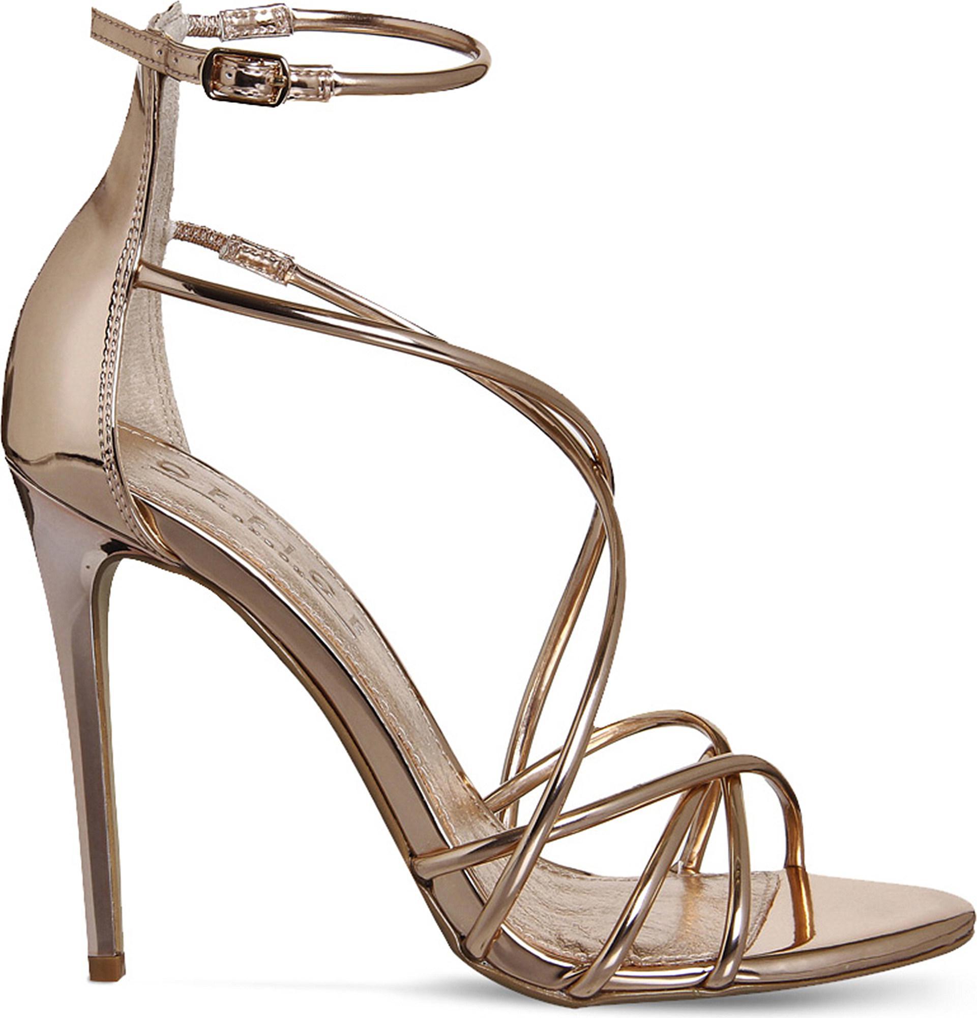 f30f2f31b Lyst - Office Angel Metallic Heeled Sandals in Gray