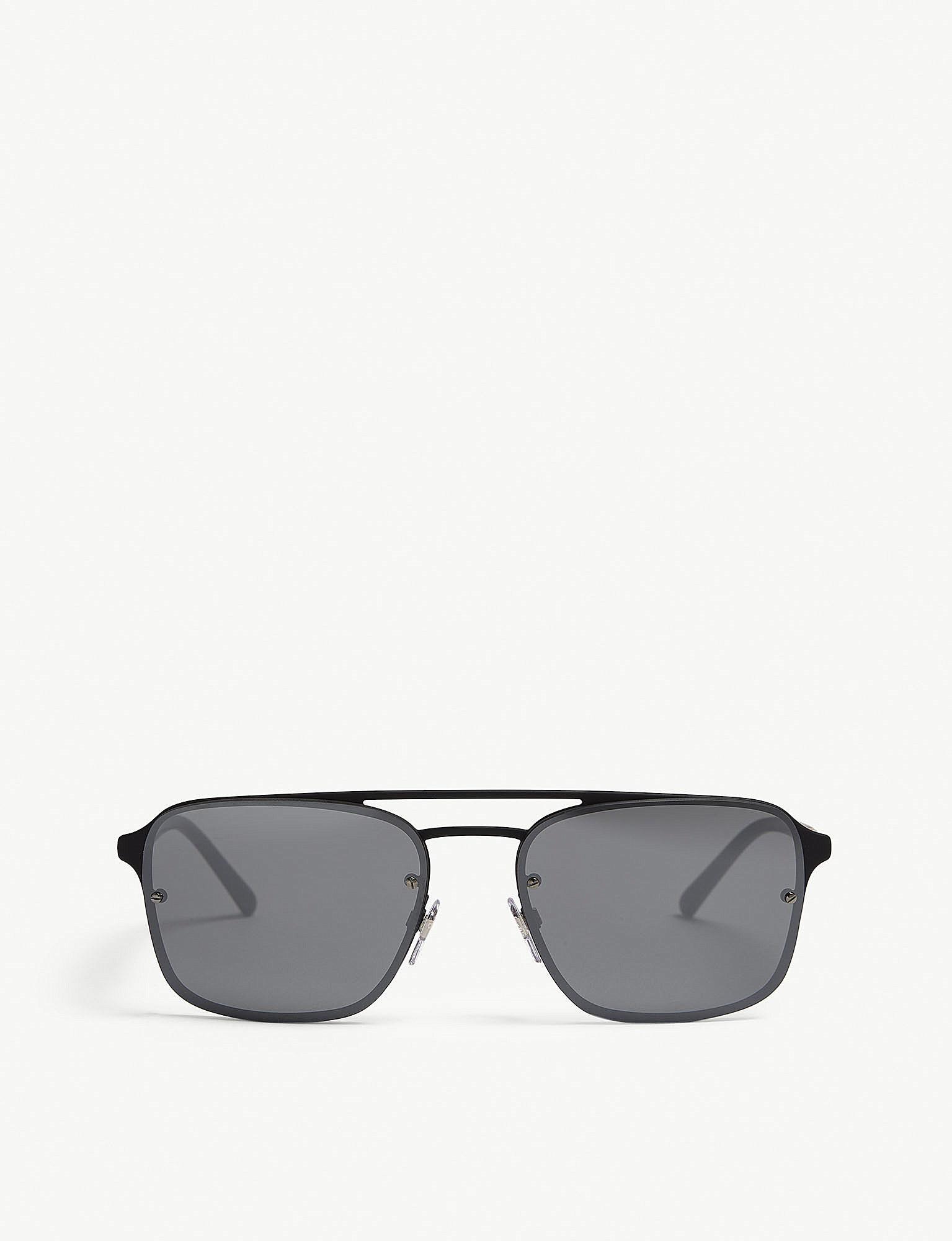 ecbf49b5ebf Lyst - Burberry Be3095 Square-frame Sunglasses in Black for Men