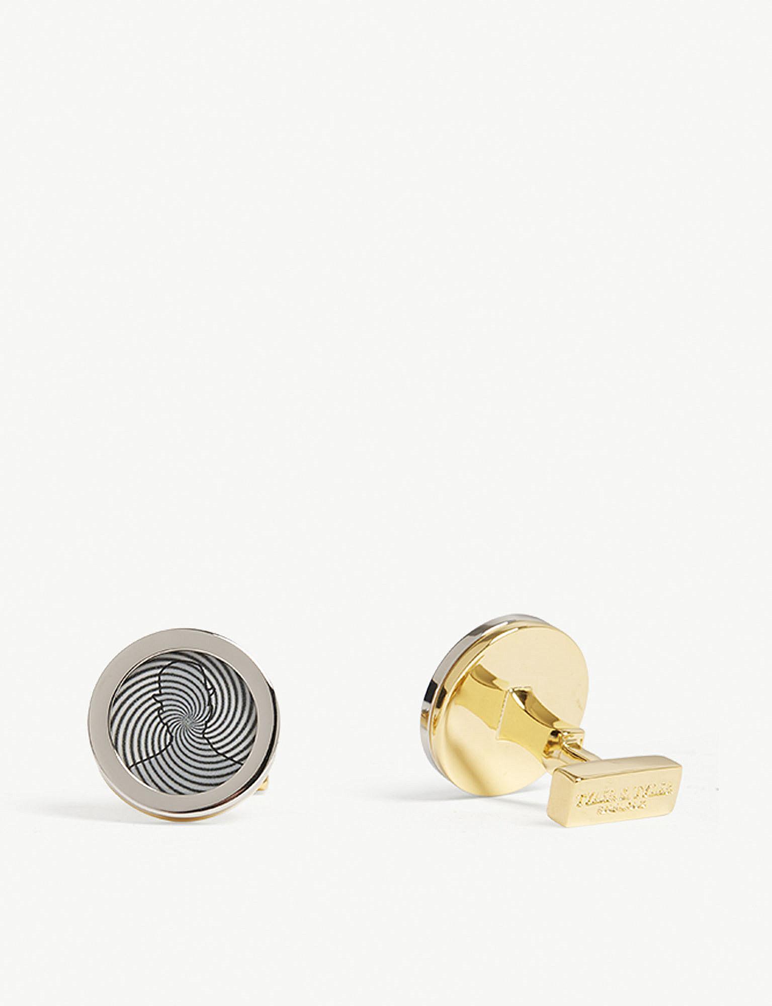 Tyler & Tyler Tyler and Tyler Fly Capsule Cufflinks - Gold Gold (Co ilLfDW