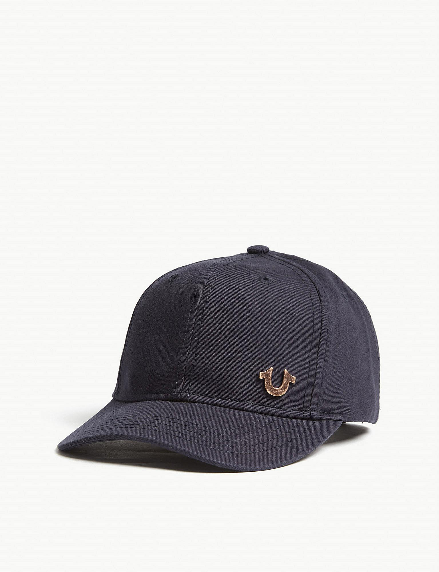 f4f68ef18b25f True Religion Logo Cotton Snapback Cap in Blue for Men - Lyst