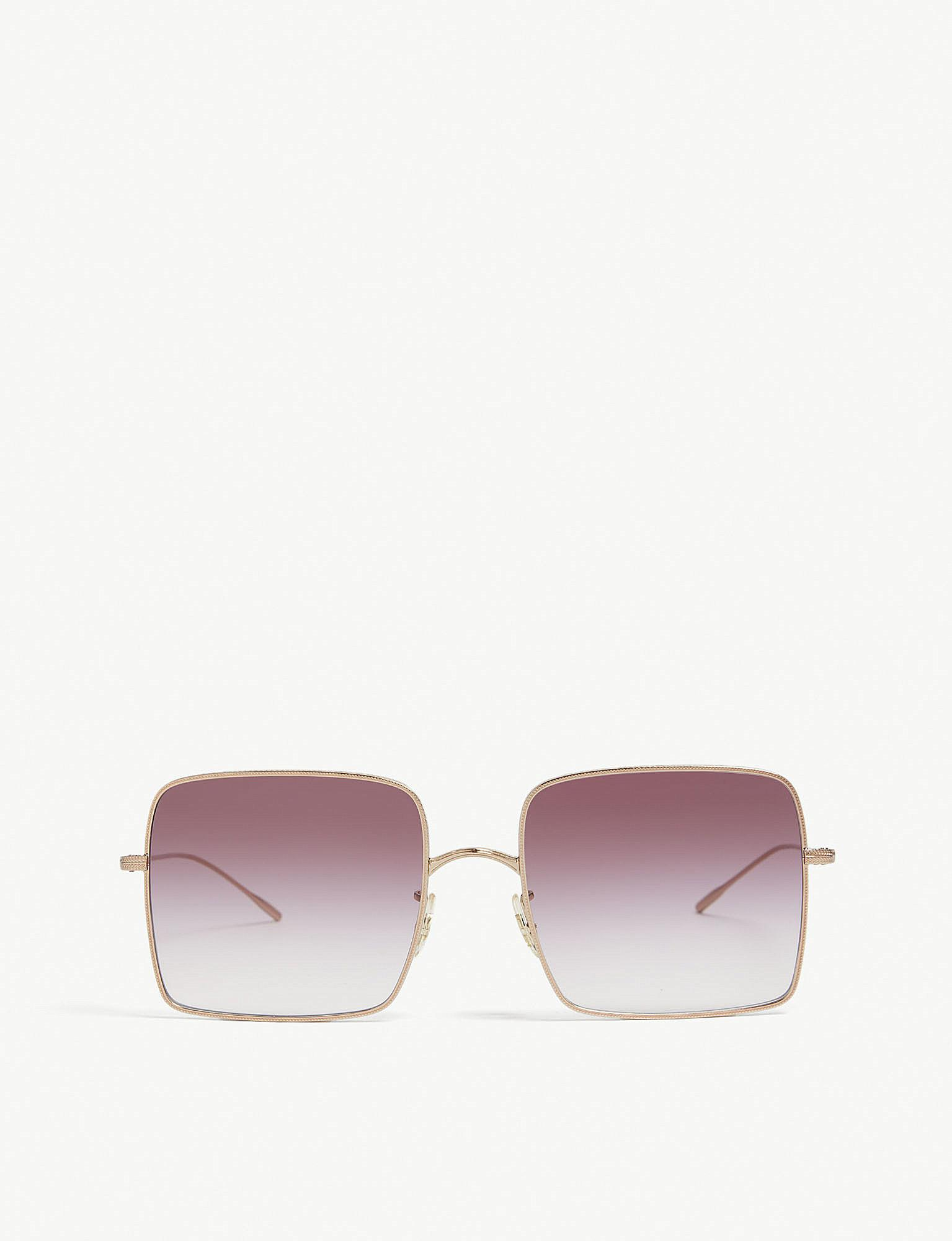 7d56350d20b Lyst - Oliver Peoples Ov1236 Rassine Square-frame Sunglasses in Pink