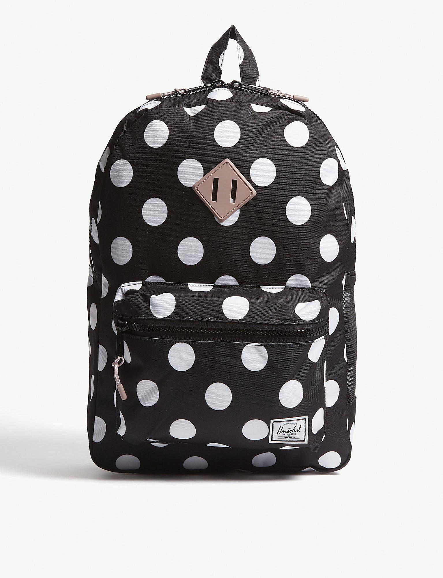 640120b581 Herschel Supply Co. Heritage Youth Xl Polka-dot Backpack in Black - Lyst