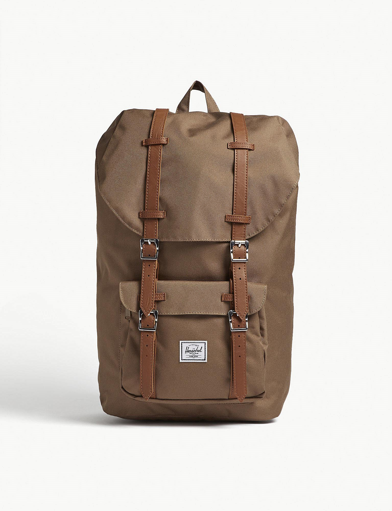 90faf611f10 ... wholesale dealer 3bed9 88473 Little Brown Leather Backpack - Fairway  Golf and Print ...