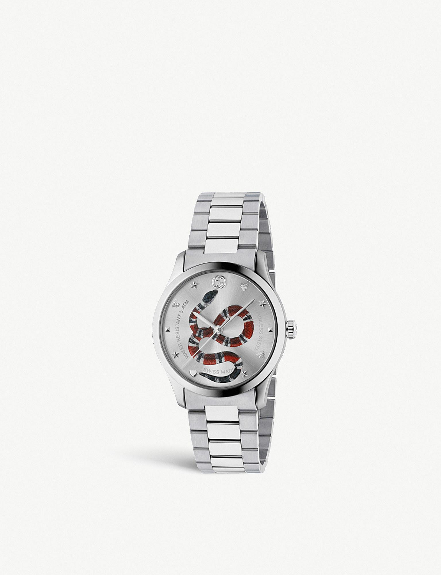 731deab34c2 Gucci Ya1264076 G-timeless Stainless Steel Bracelet Watch in ...