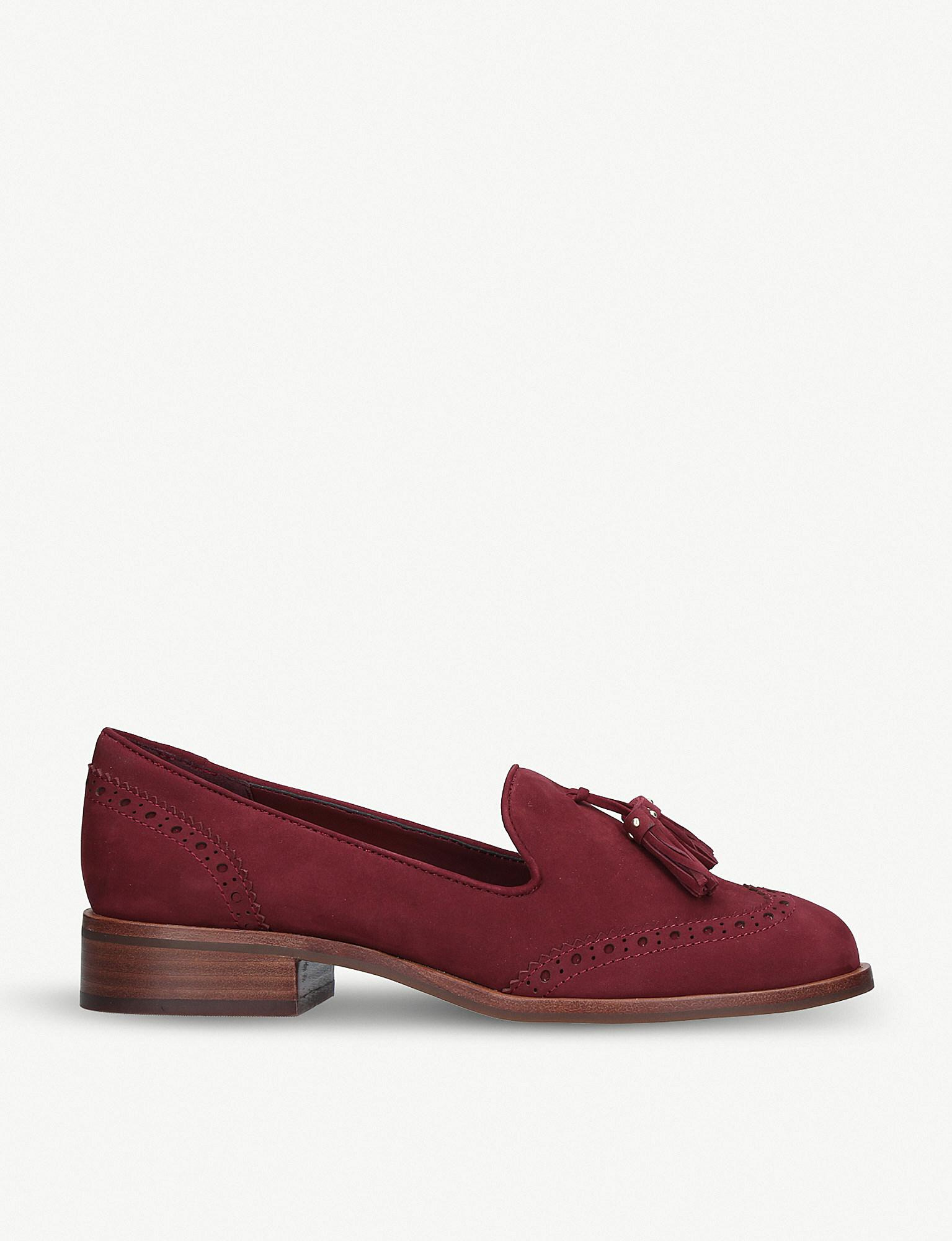 e3804d44966 Lyst - ALDO Aferinna Leather Loafers in Red