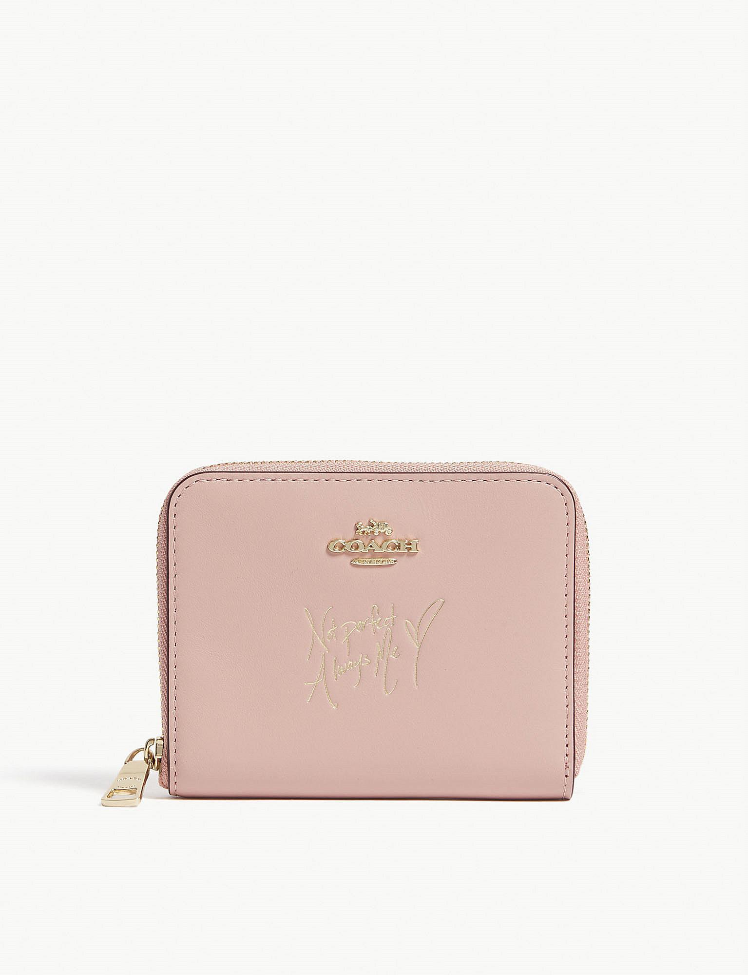 a90d875fc65f COACH - Pink X Selena Small Zip-around Wallet In Colourblock - Lyst. View  fullscreen
