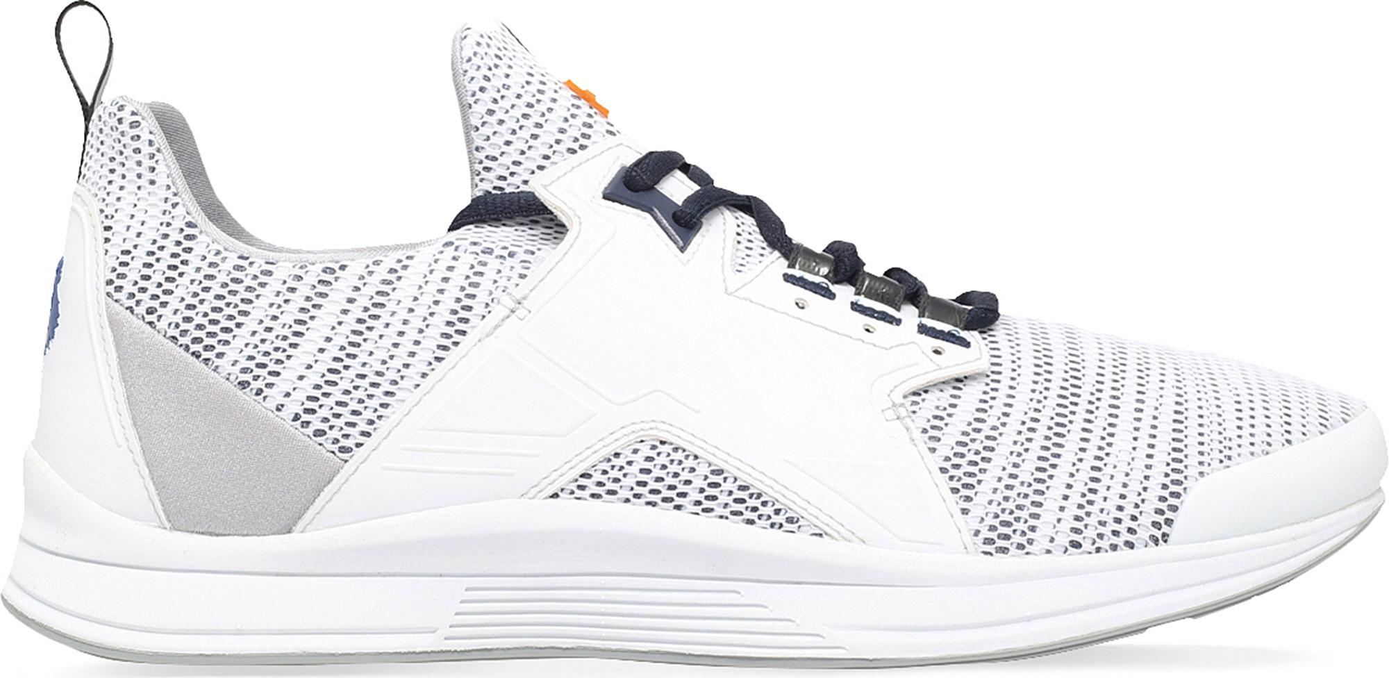 Cheap Kenzo White Ozzy Leather And Mesh Running Trainers for Men Sale
