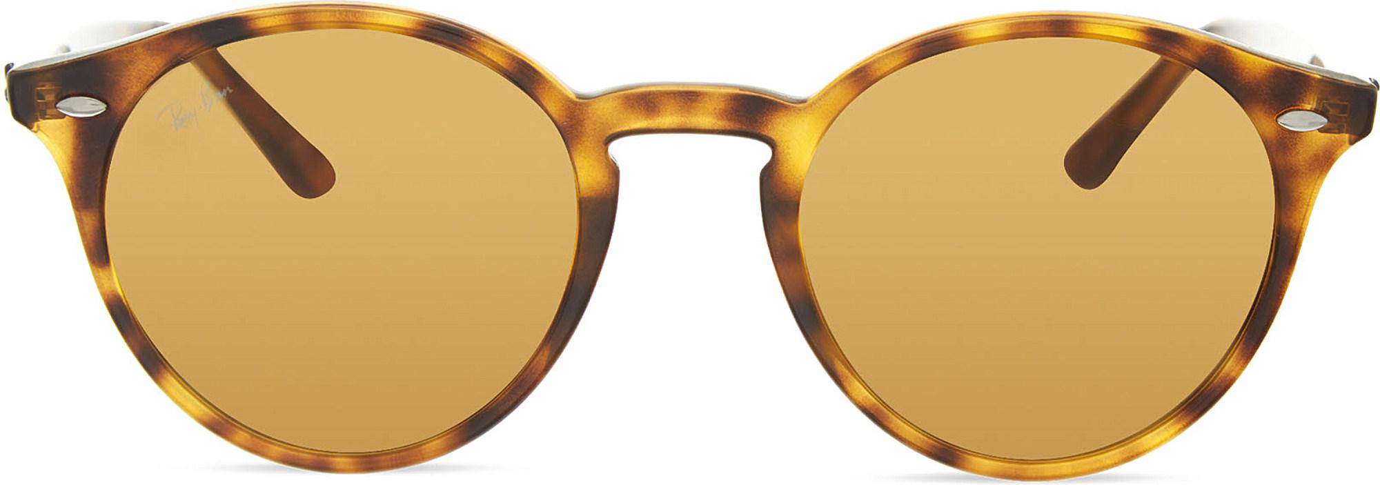 db6cf62c742 Lyst - Ray-Ban Rb2180 Round Sunglasses in Brown