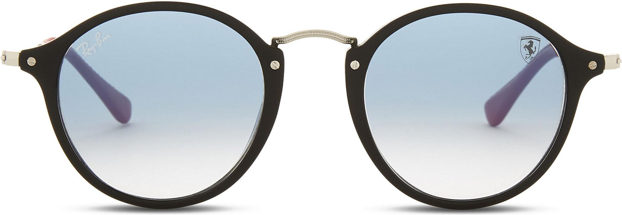 7cccb709eb Ray-Ban Rb2447 Round-frame Sunglasses in Black - Lyst