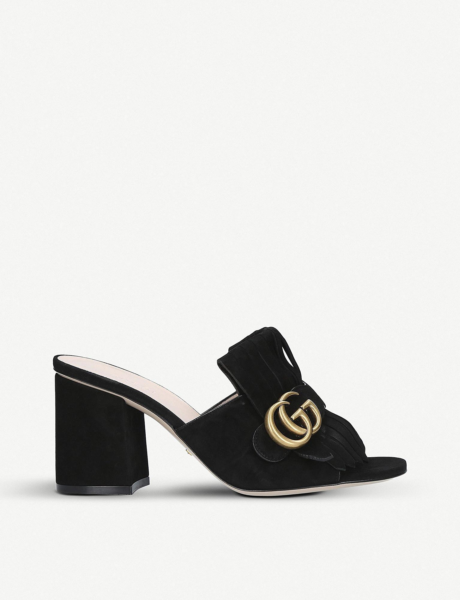 5g5h4lPe2z GG Mid-heel Fringed Marmont Mules zDk7Ns