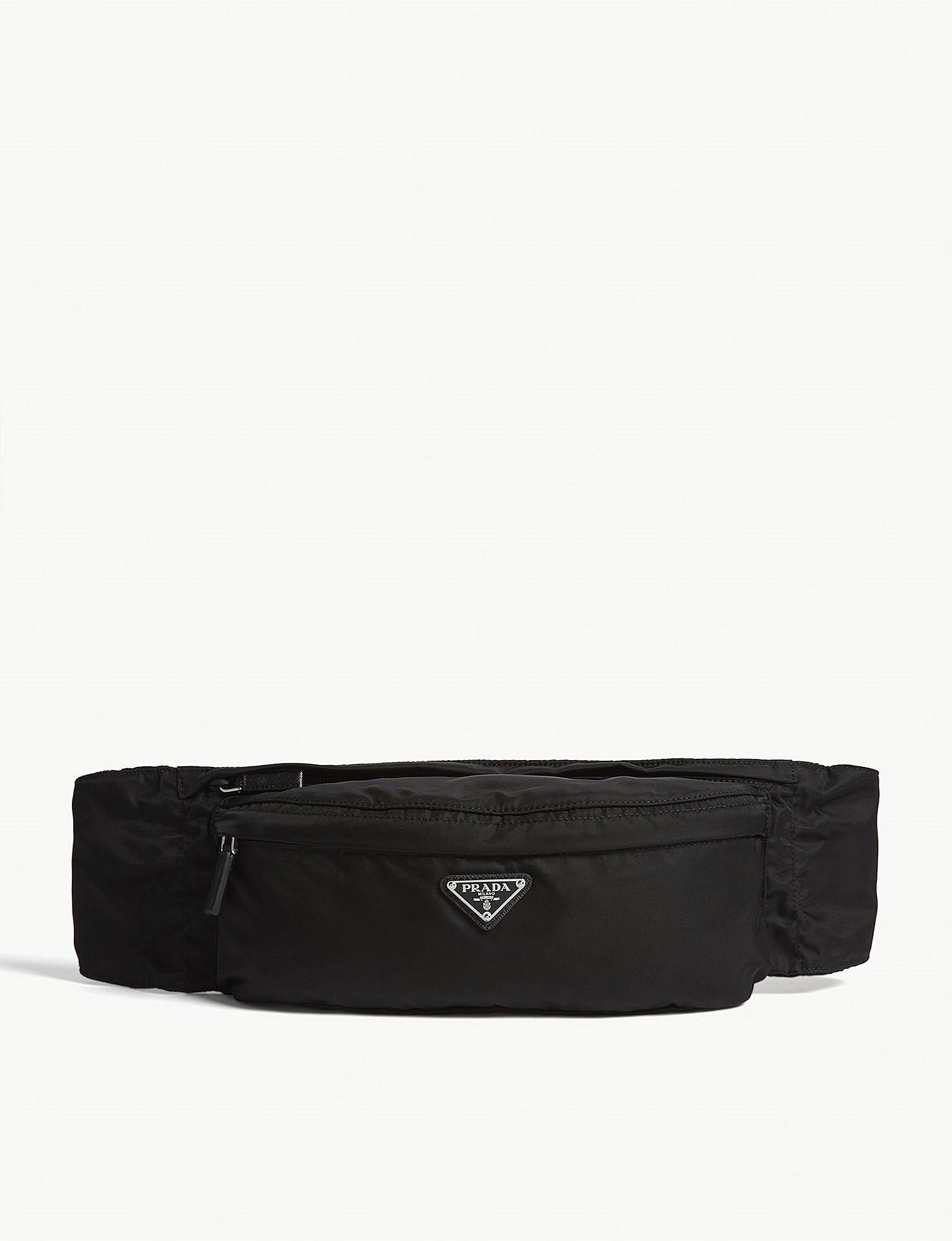 37f56974ca83 Lyst - Prada Logo Nylon Belt Bag in Black