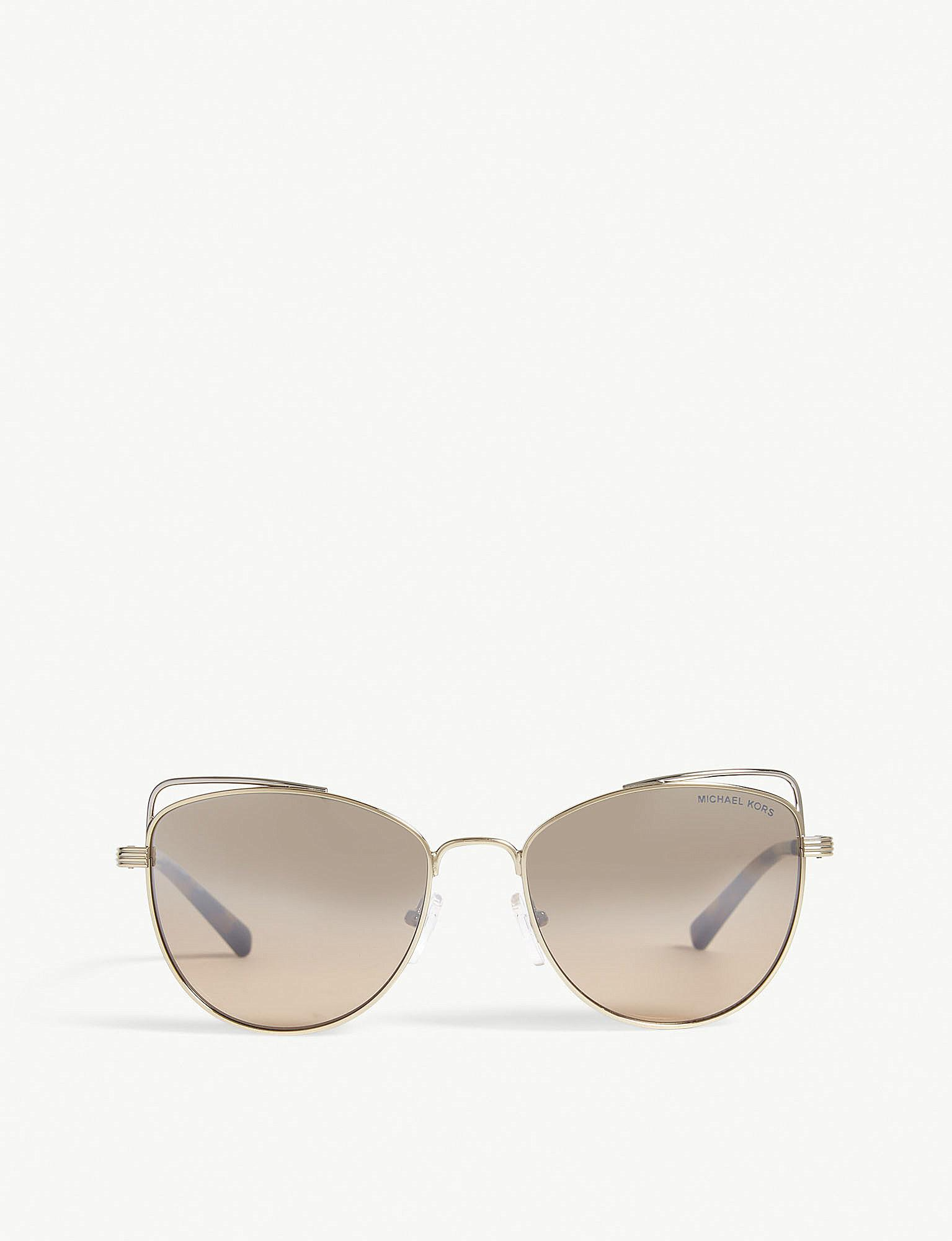 af9ed7133cc9 Michael Kors - Metallic Light Gold St. Lucia Cat's Eye Sunglasses Mk1035 -  Lyst. View fullscreen
