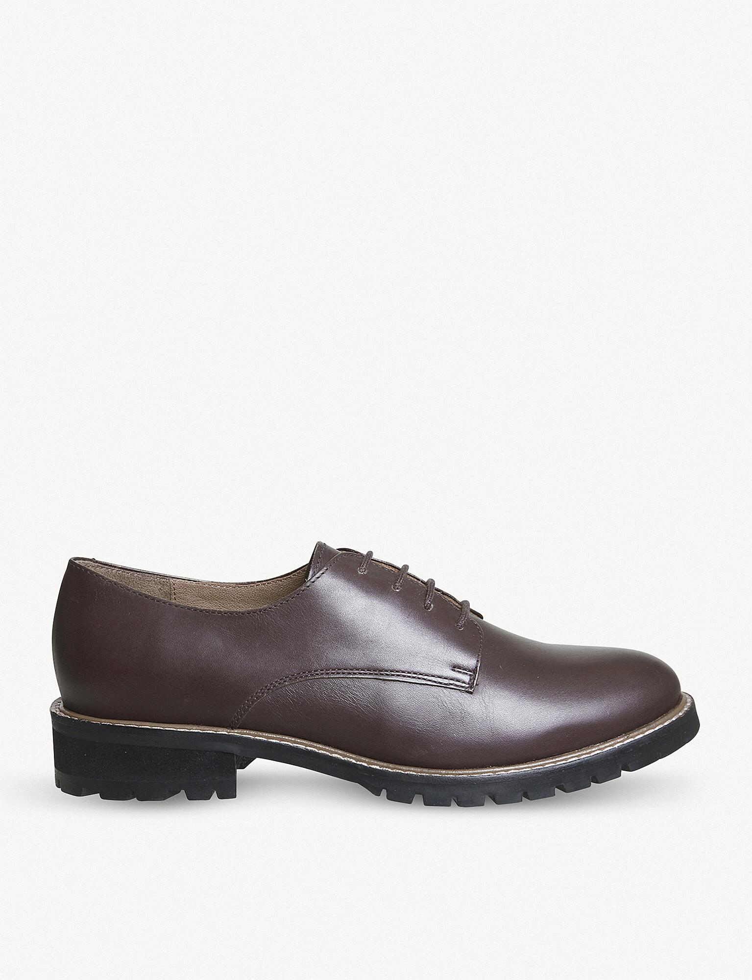 Office Men S Brown Kennedy Chunky Leather Derby Shoes