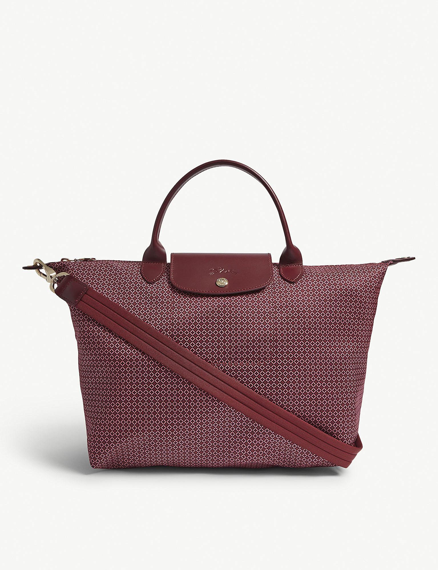 47f5f11ea9ad Longchamp Le Pliage Dandy Shoulder Bag in Red - Lyst