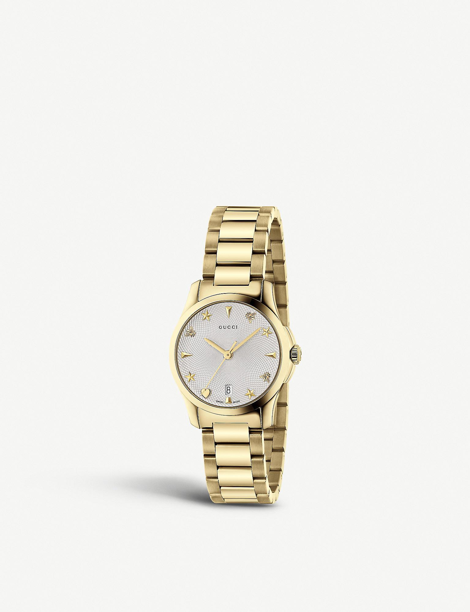 2aef32b3e6d Lyst - Gucci Ya126576 G-timeless Collection Stainless Steel And ...