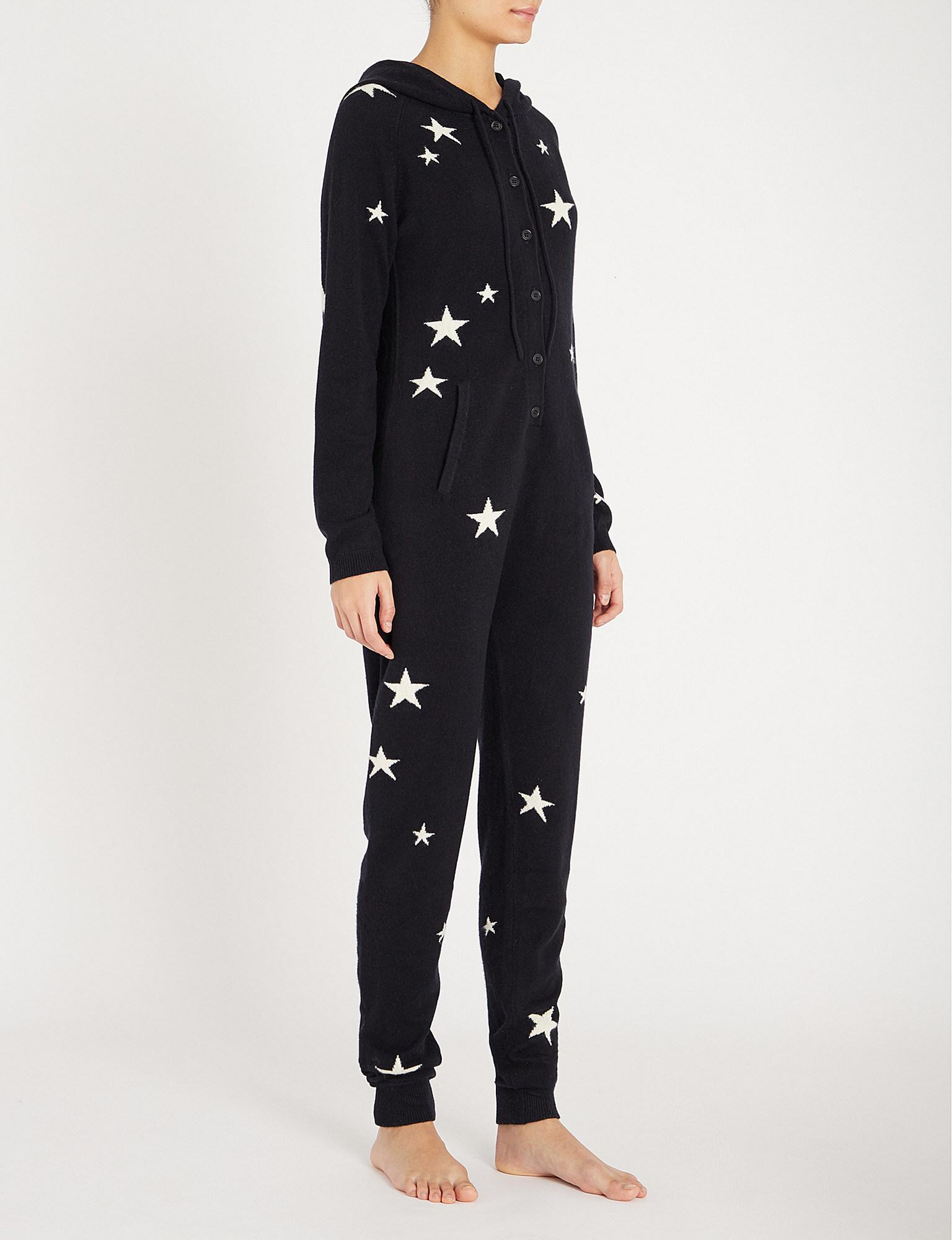 3fa3f22342 Lyst - Chinti   Parker Star-intarsia Cashmere Onesie in Blue