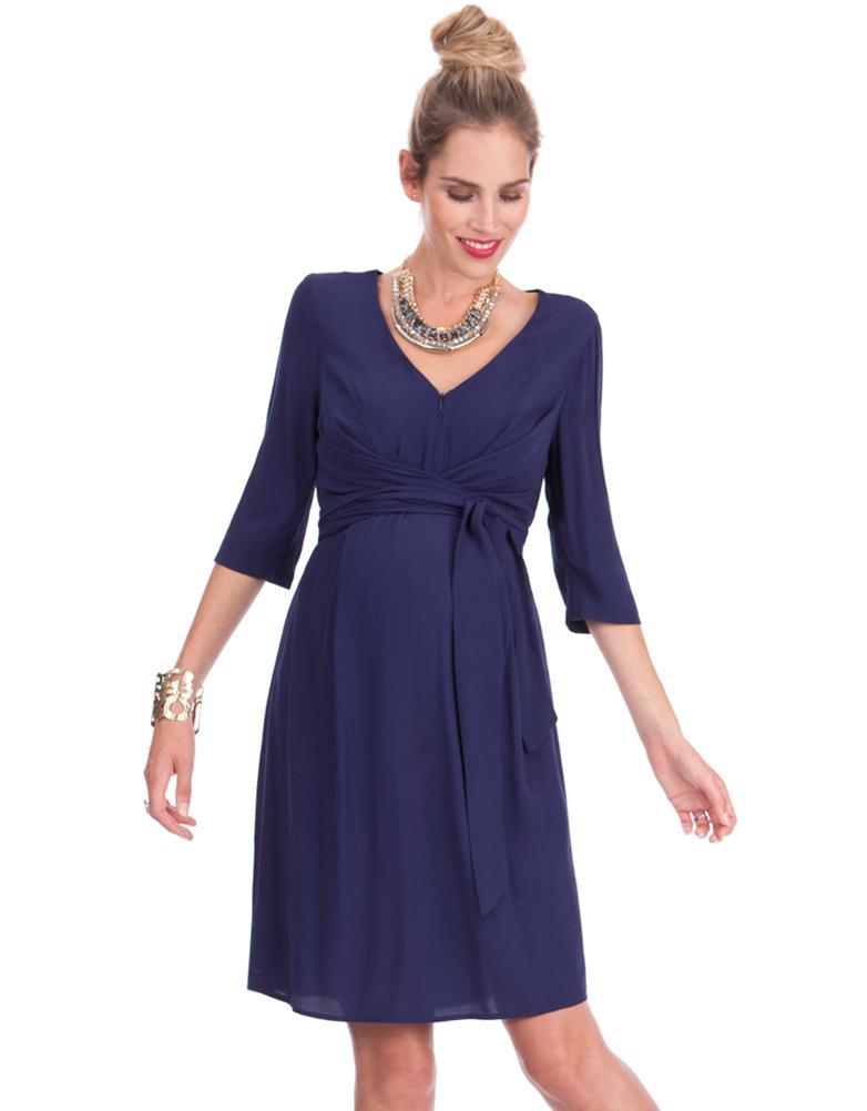 e81d6375c27e1 Seraphine Ink Woven Maternity & Nursing Dress in Blue - Lyst