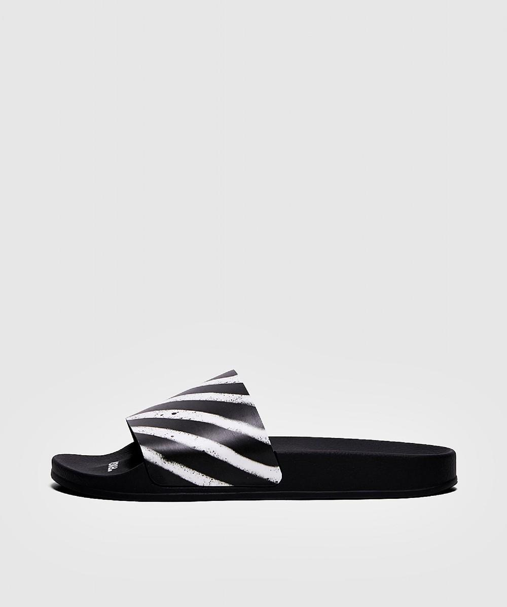 92e3940ce925 Lyst - Off-White C O Virgil Abloh Spray Stripes Slider in Black for Men
