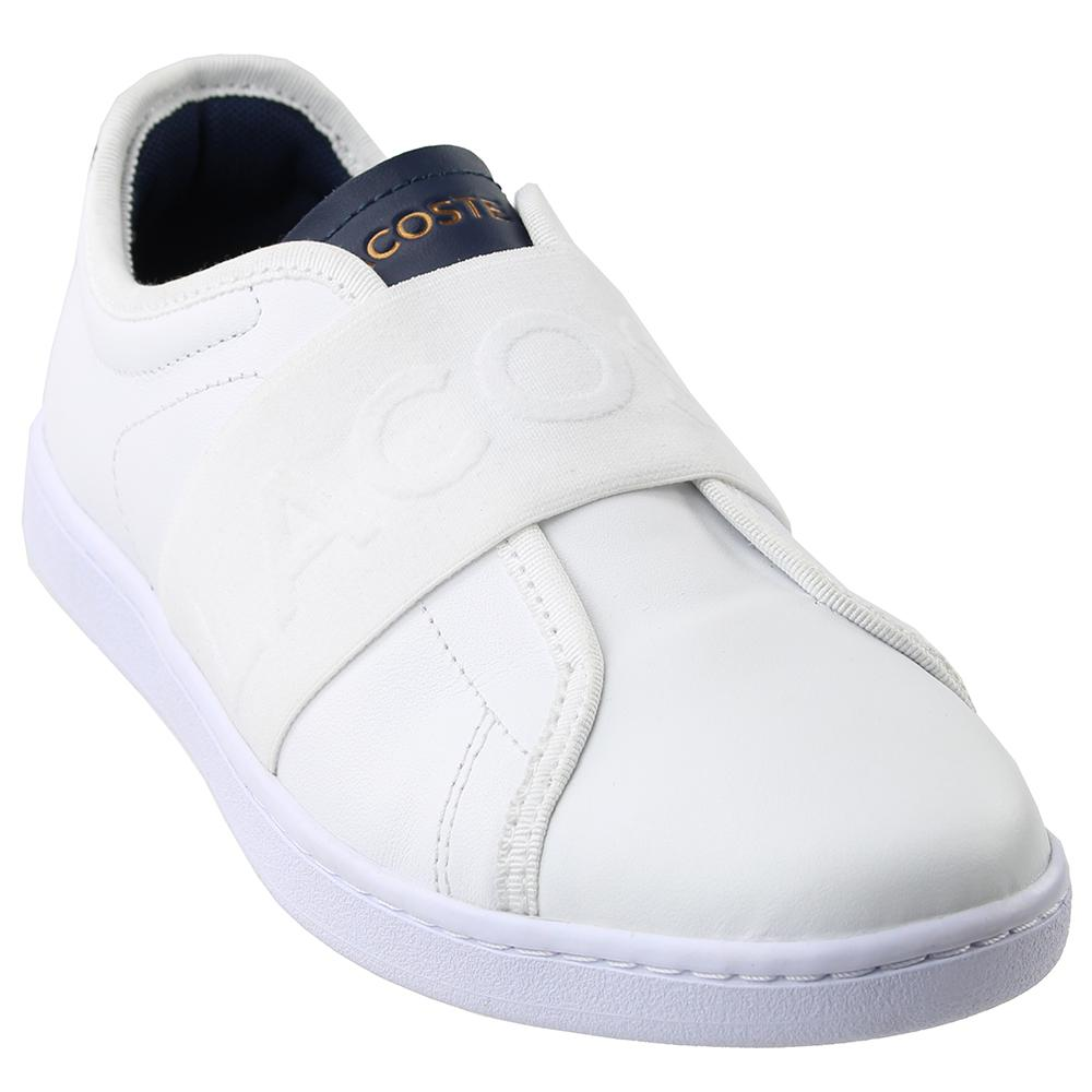 56d35fe71c6f Lyst - Lacoste Carnaby Evo Leather Trainers in White