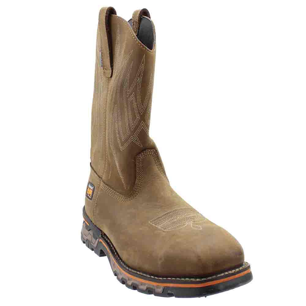 09a7efcd63db Lyst - Timberland Ag Boss Alloy Toe Waterproof Work Boots in Brown ...