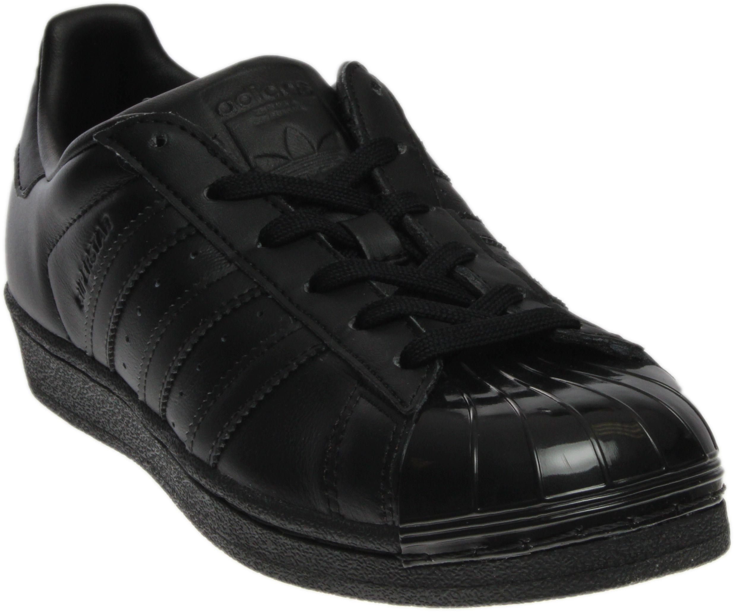 buy online e4395 c6c33 Lyst - adidas Superstar Glossy Toe in Black