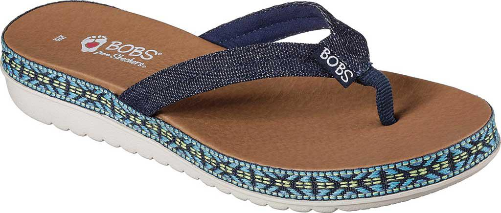 Skechers. Women's Blue Bobs Sunkiss Star Fish Thong Sandal